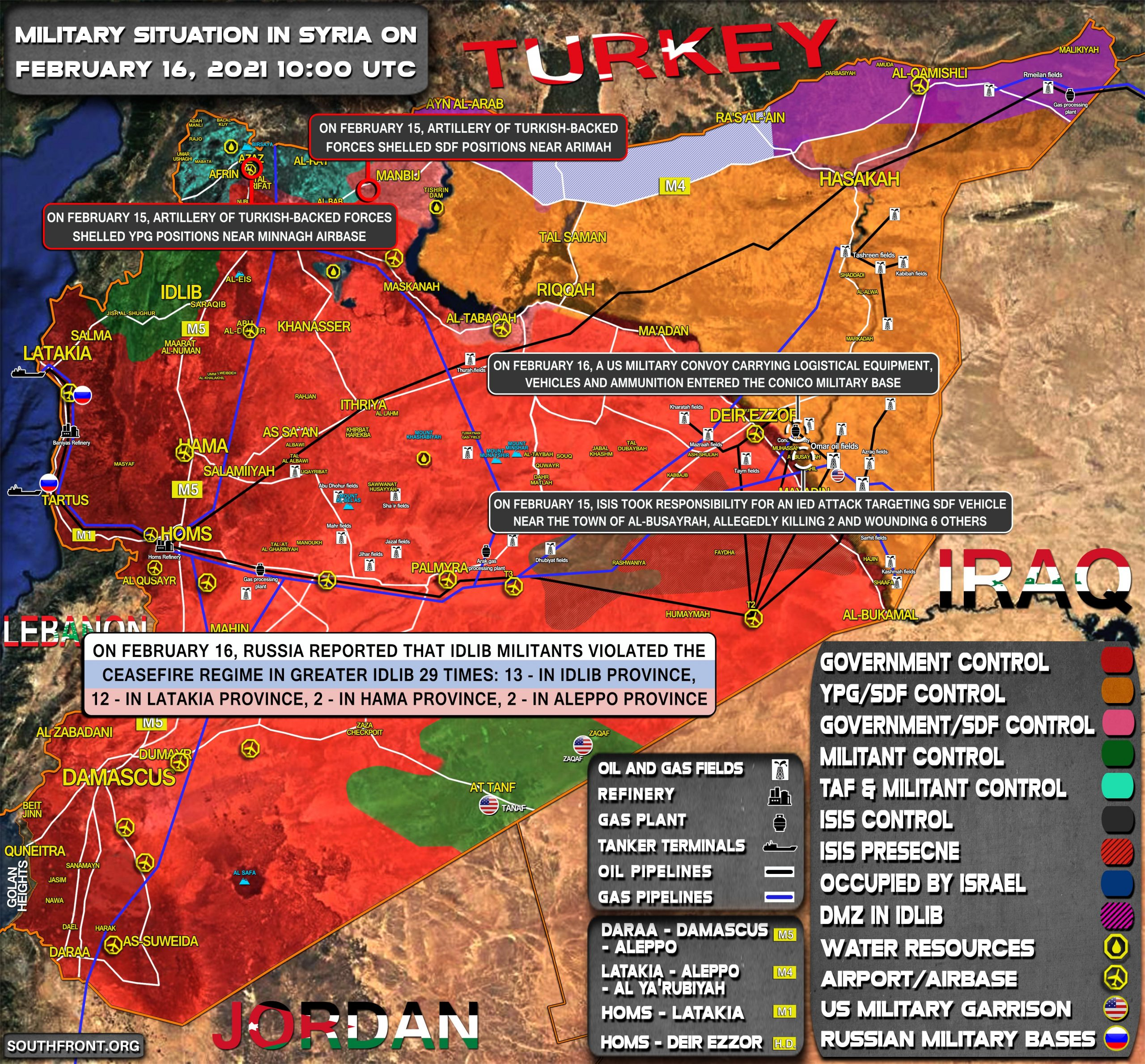 Military Situation In Syria On February 16, 2021 (Map Update)