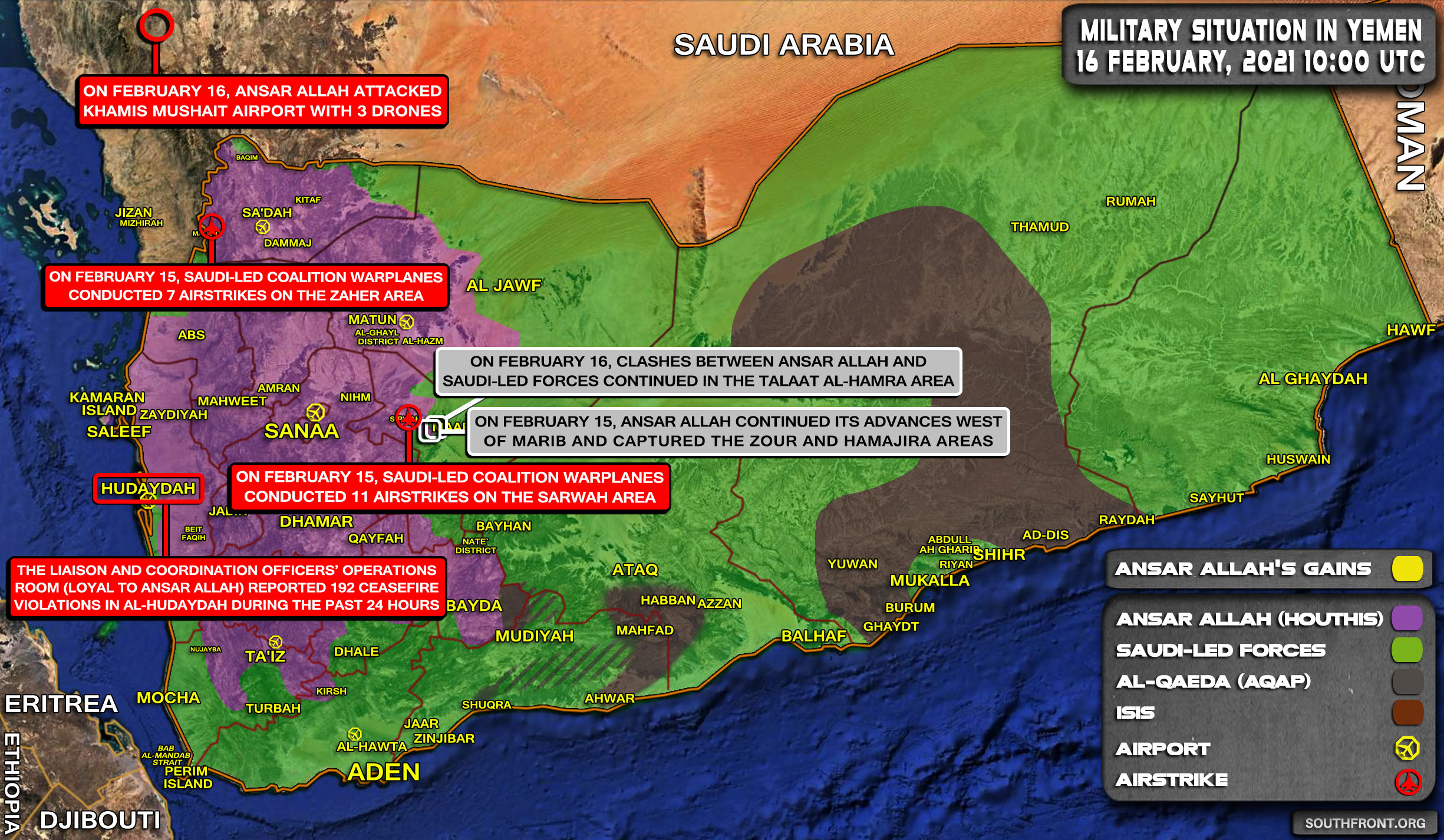 Heavy Clashes And Saudi-led Coalition On The Back Foot As The Houthis Push For Marib City (Map, Videos)