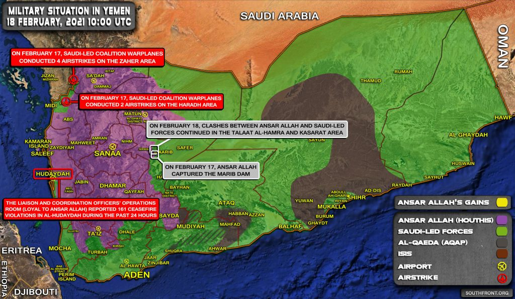 Houthis Capture Key Marib Dam From Saudi Proxies In Central Yemen (Map Update)