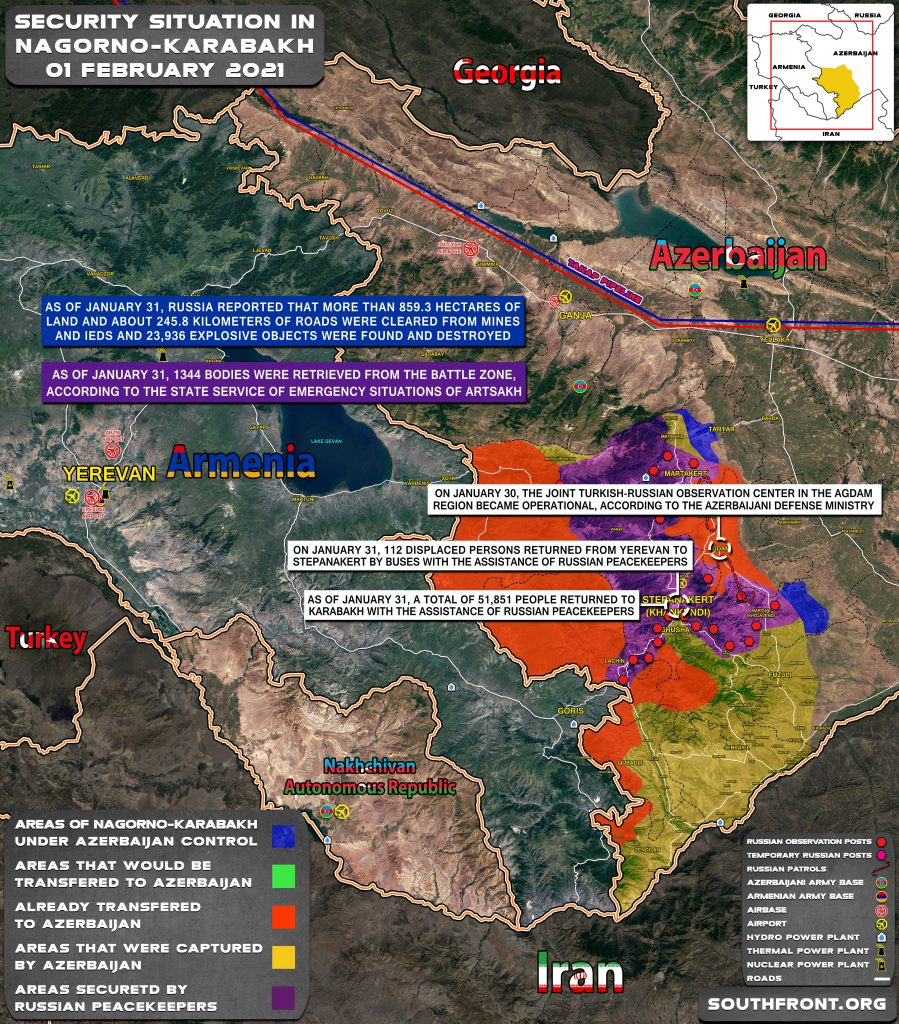 Military Situation In Nagorno-Karabakh On February 1, 2020 (Map Update)