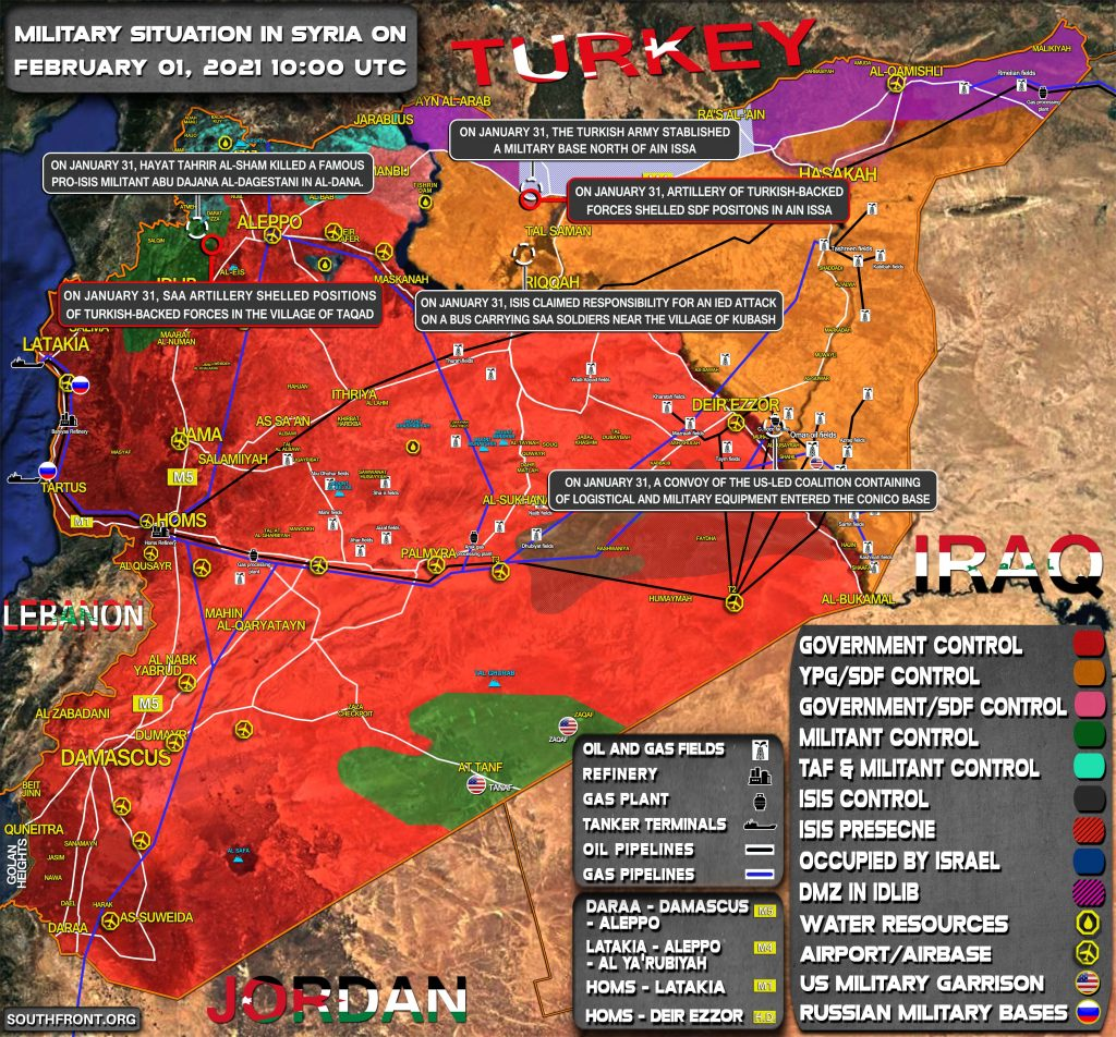 Military Situation In Syria On February 1, 2021 (Map Update)