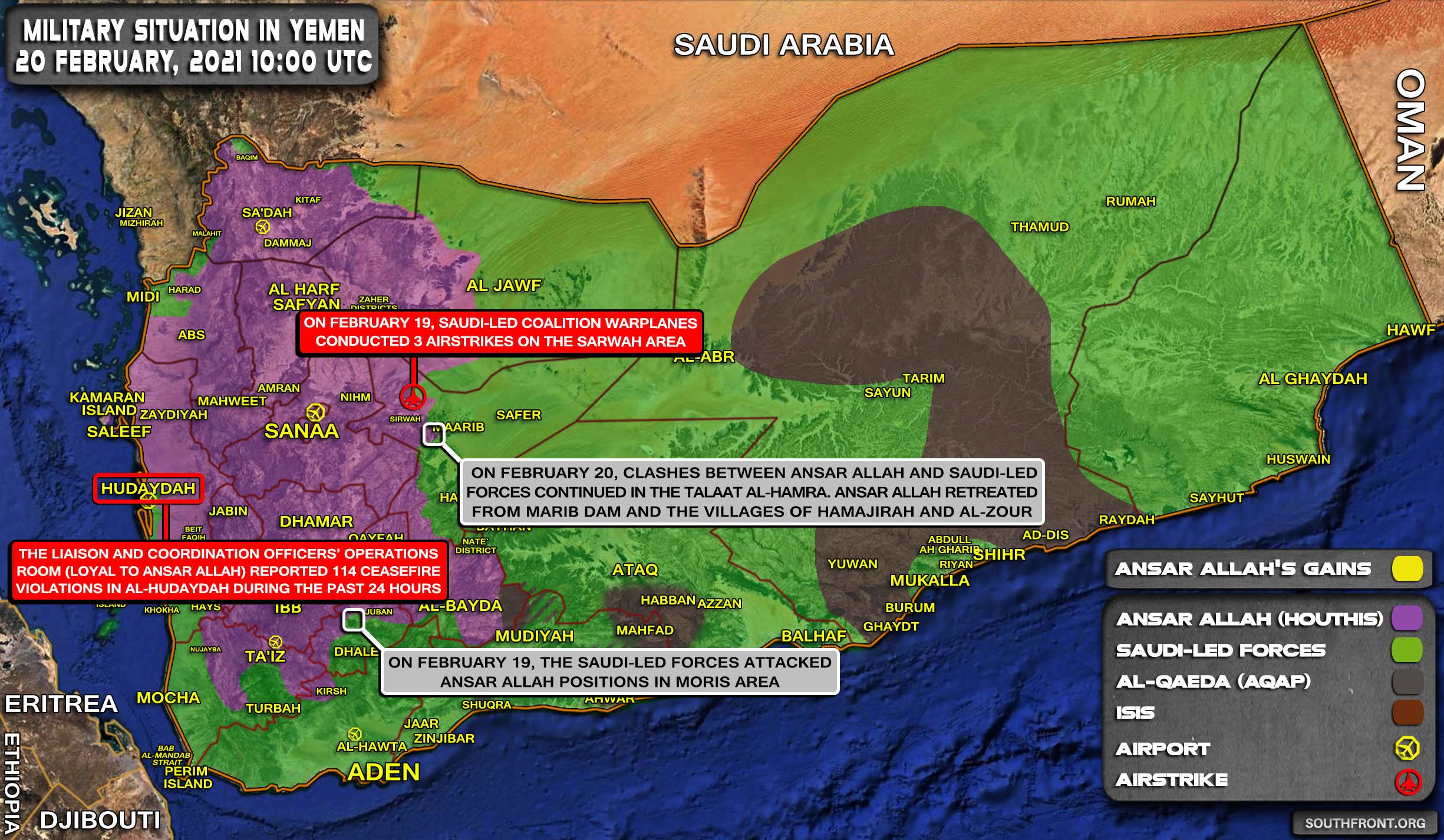 Houthis Withdraw From Marib Dam (Map Update)