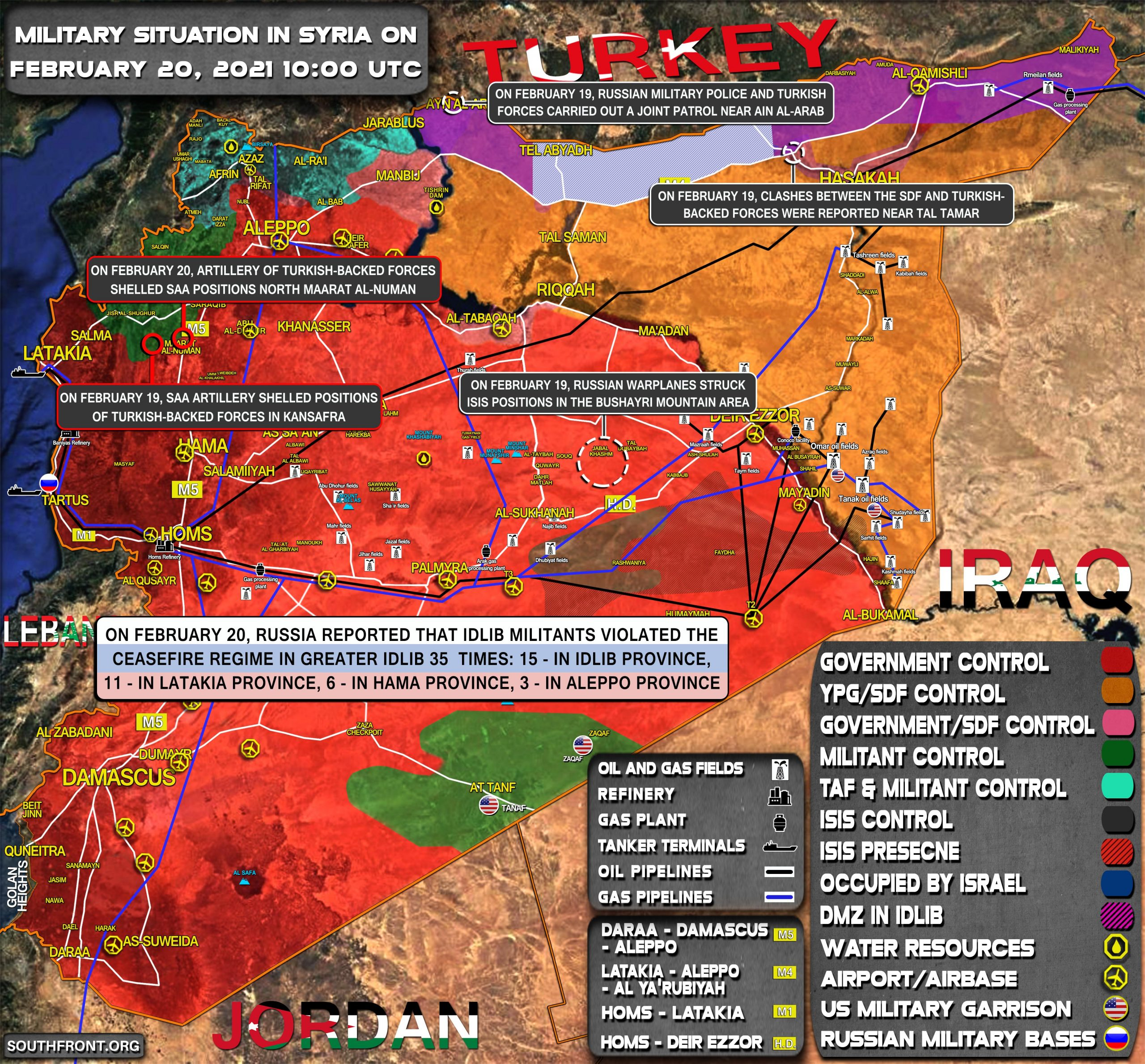 Military Situation In Syria On February 20, 2021 (Map Update)