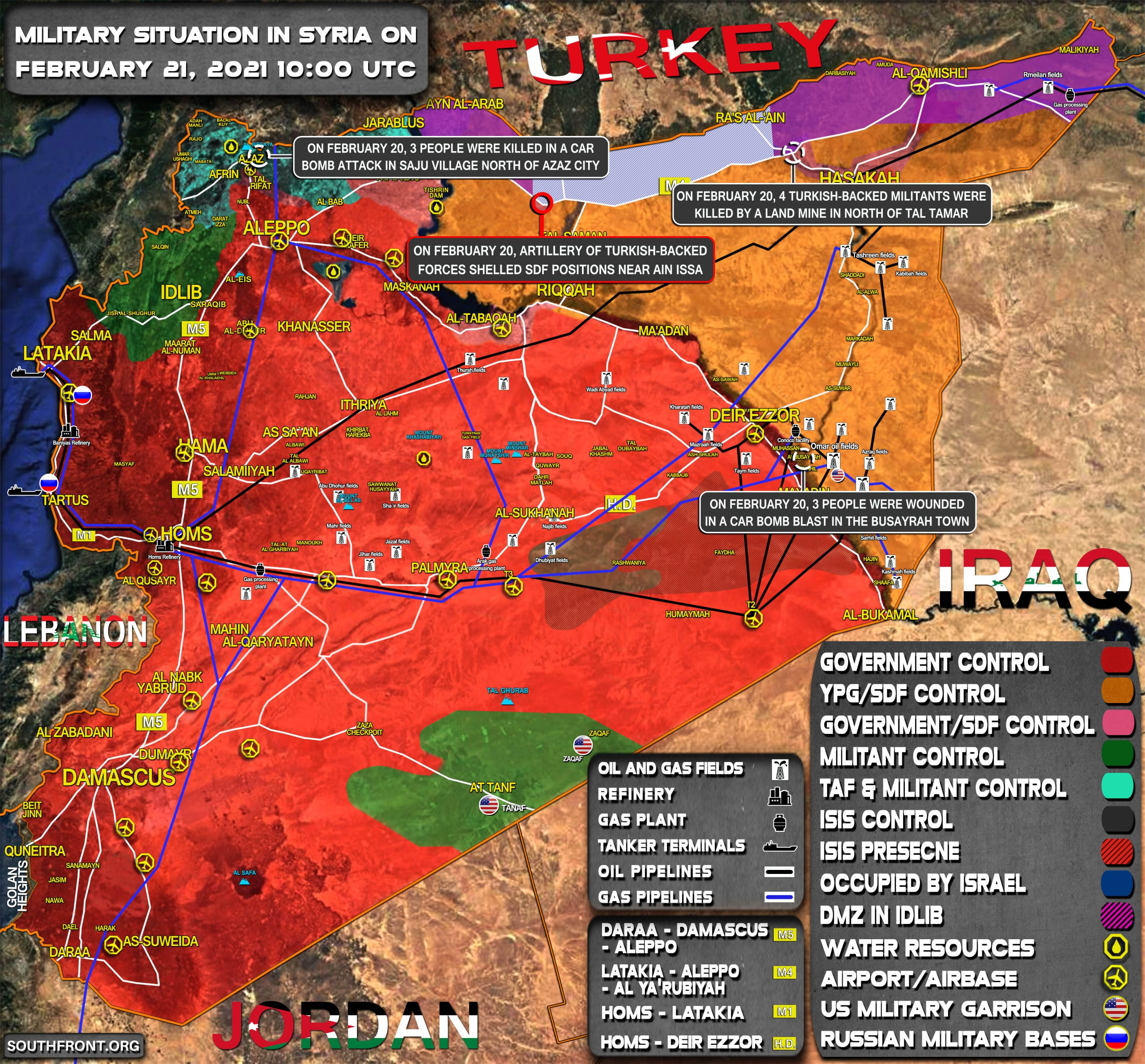 Military Situation In Syria On February 21 2021 (Map Update)