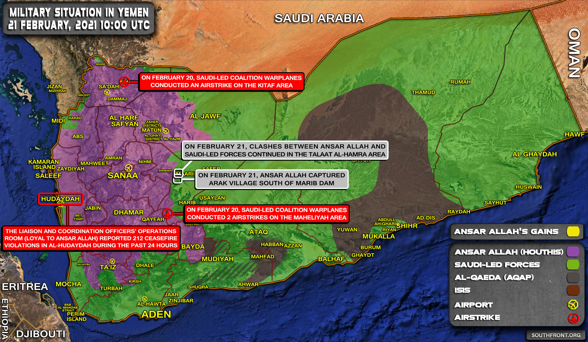 Houthis Capture Village Near Marib Dam, Potentially Prepare For New Offensive (Map Update)