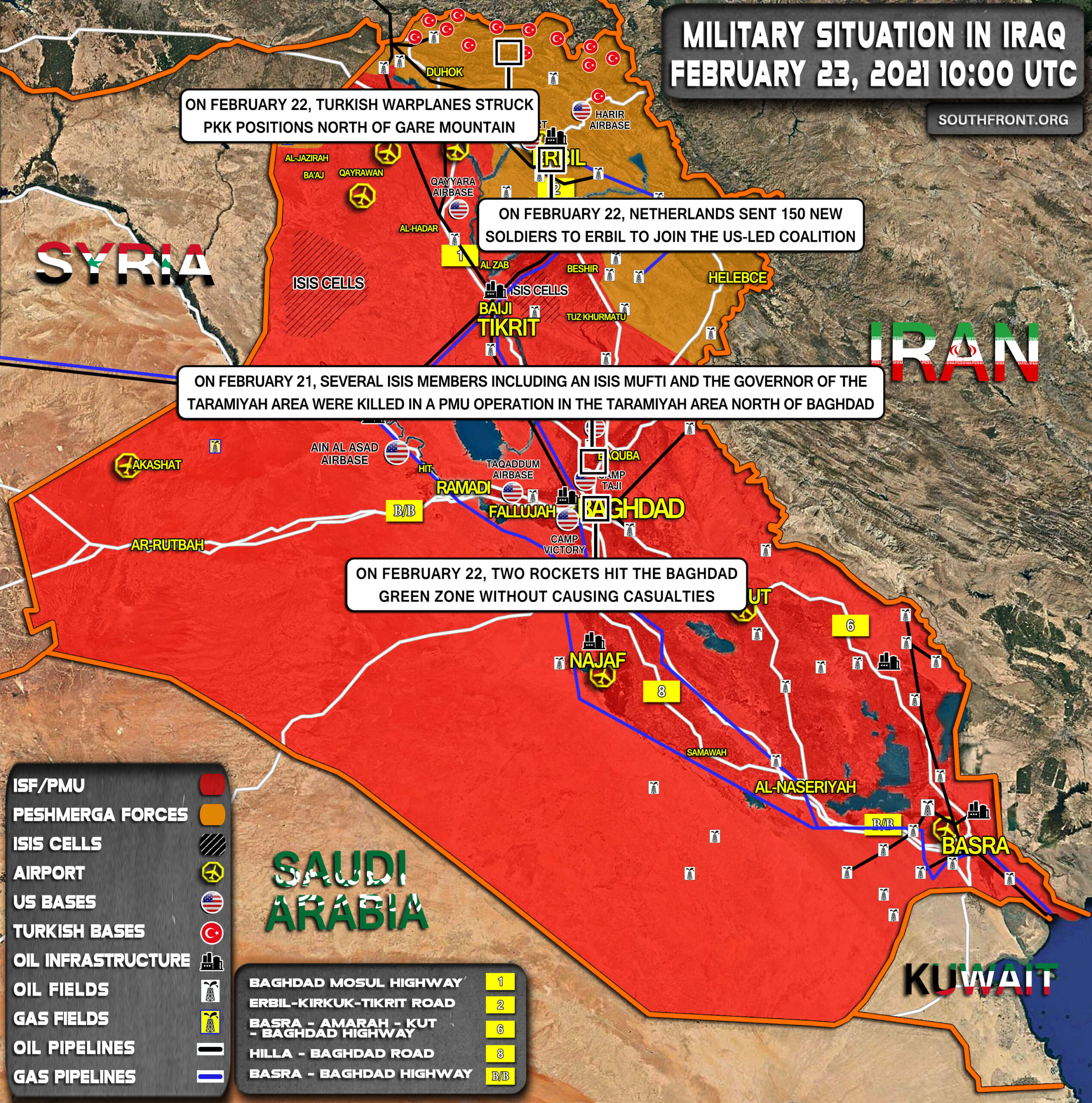 Military Situation In Iraq On February 23, 2021 (Map Update)