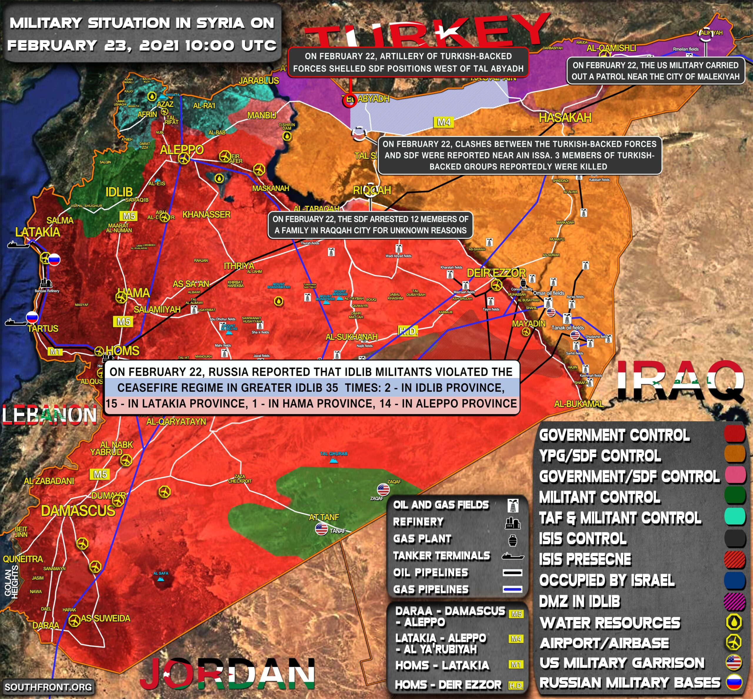 Military Situation In Syria On February 23, 2021 (Map Update)