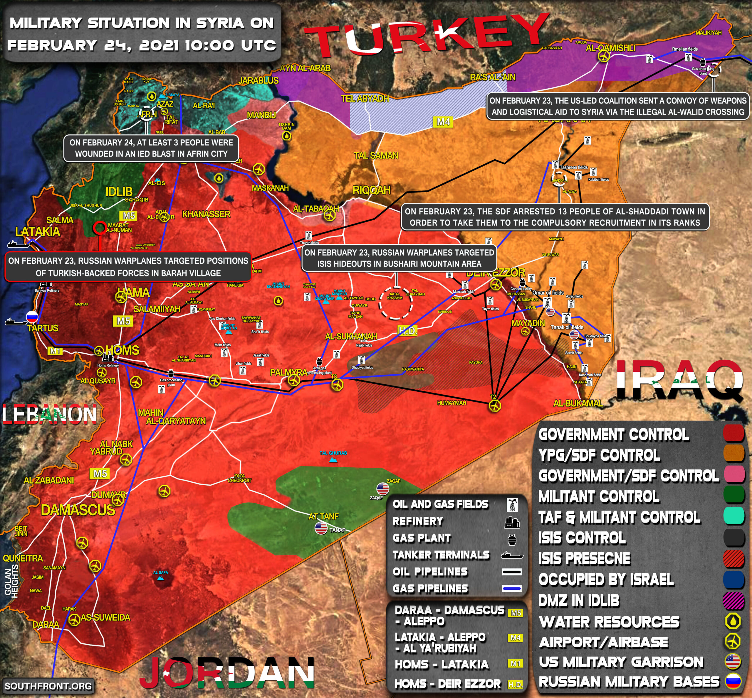 Military Situation In Syria On February 24, 2021 (Map Update)