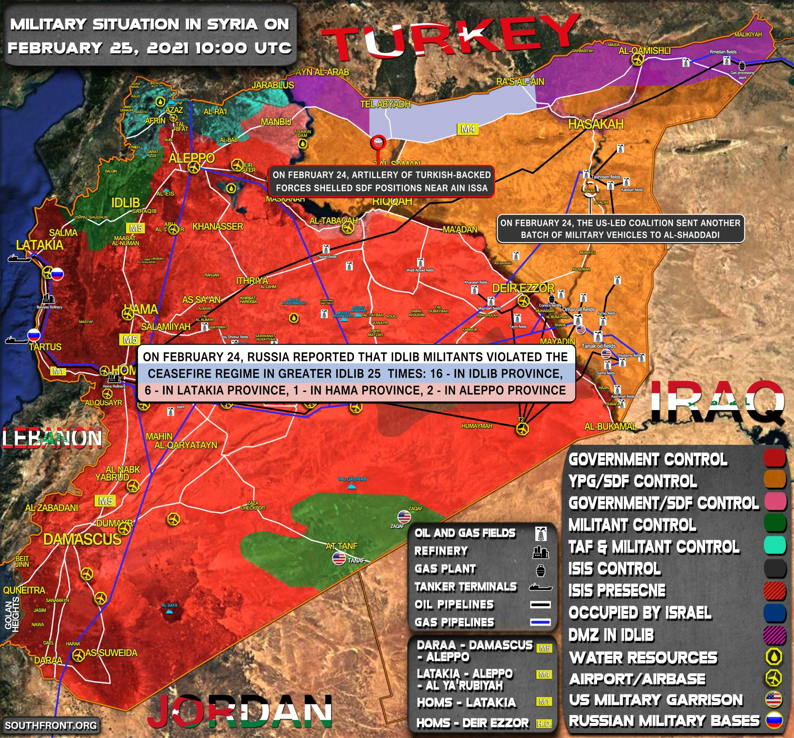 Military Situation In Syria On February 25, 2021 (Map Update)