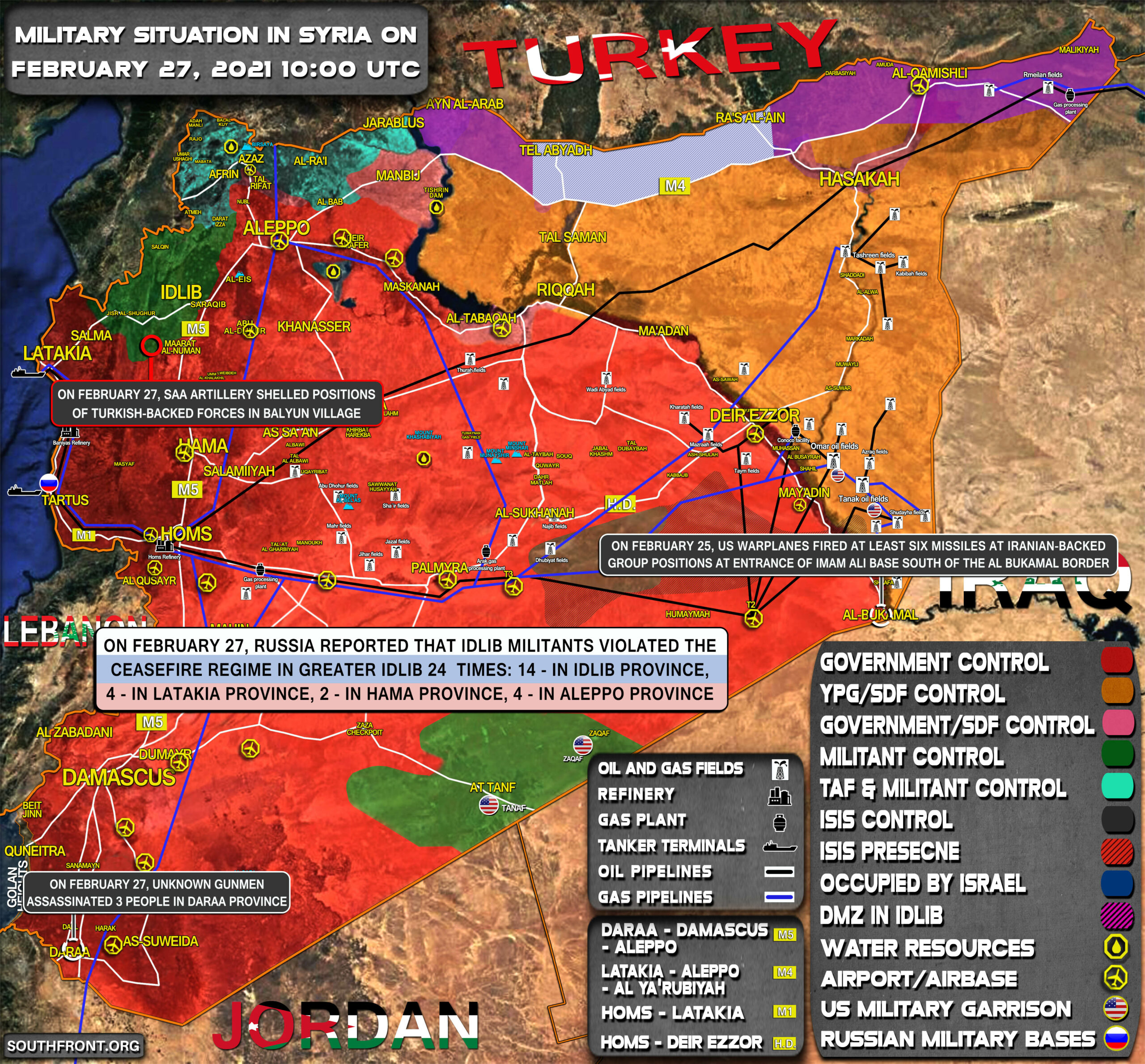 Military Situation In Syria On February 27, 2021 (Map Update)