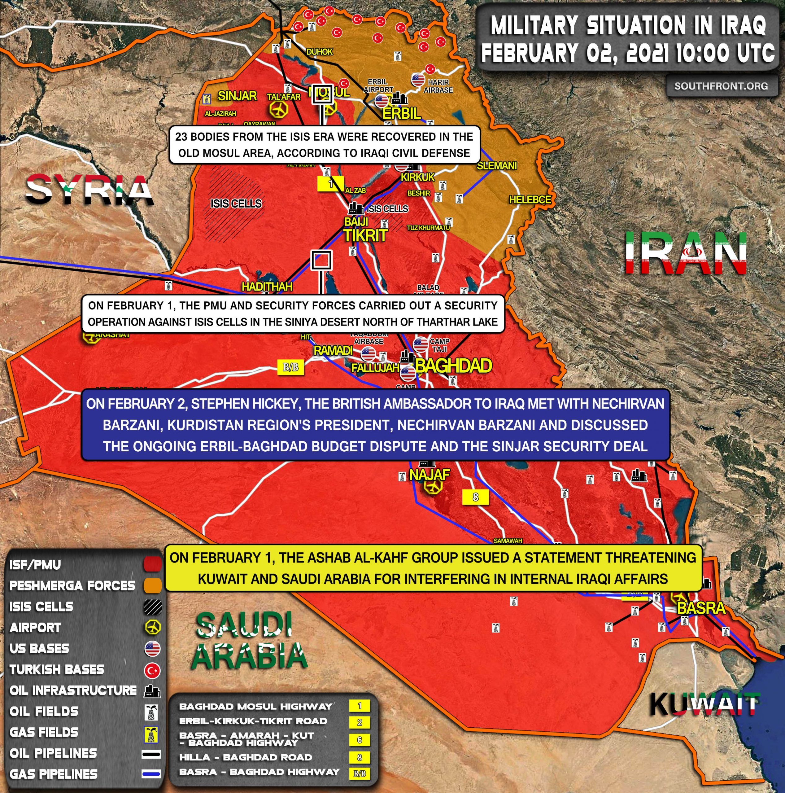Military Situation In Iraq On February 2, 2021 (Map Update)