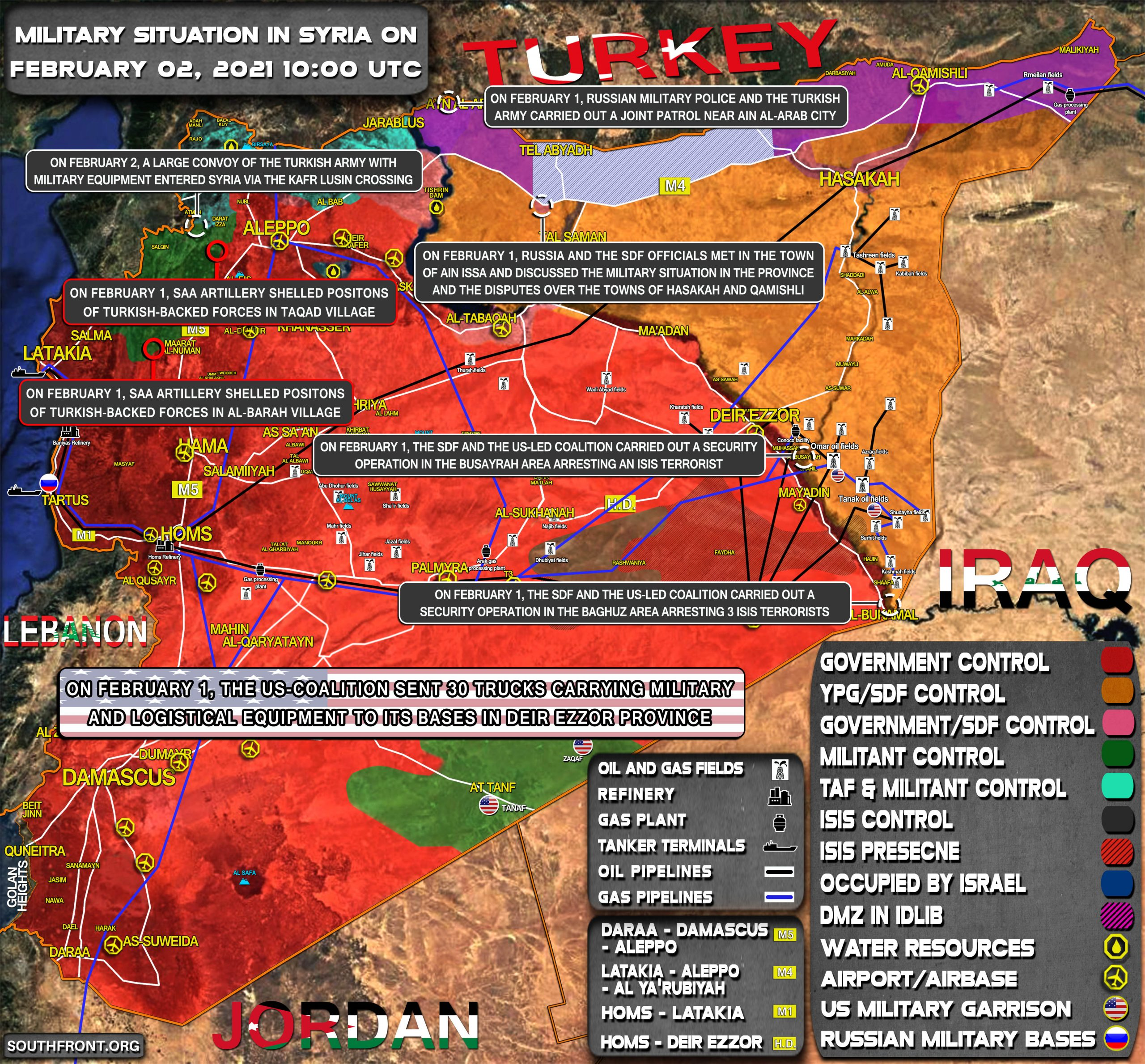 Military Situation In Syria On February 2, 2021 (Map Update)