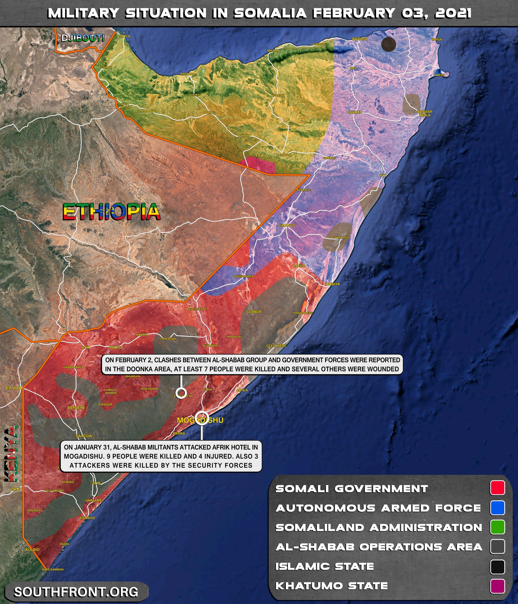 Military Situation In Somalia On February 3, 2021 (Map Update)
