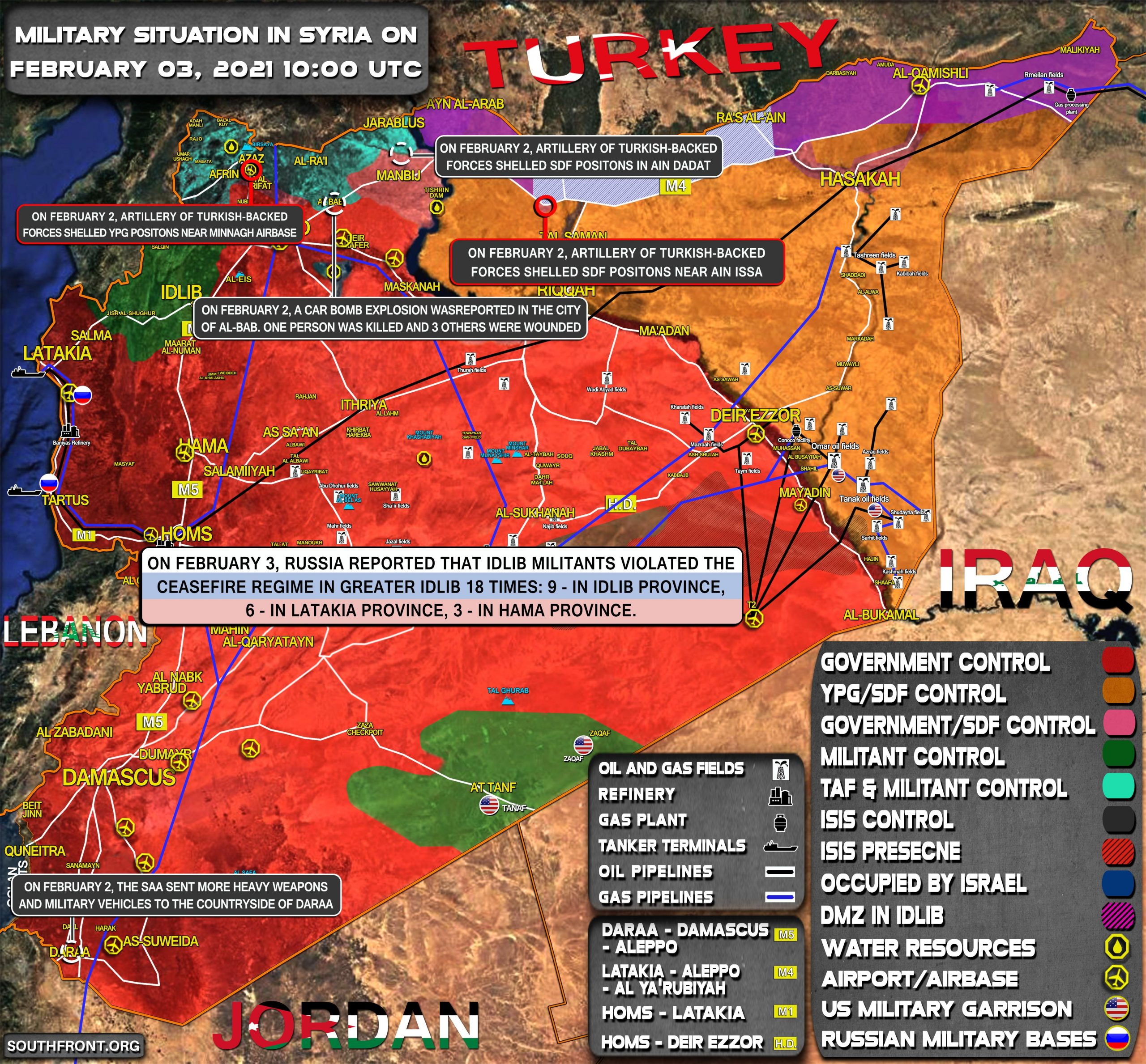 Military Situation In Syria On February 3, 2021 (Map Update)