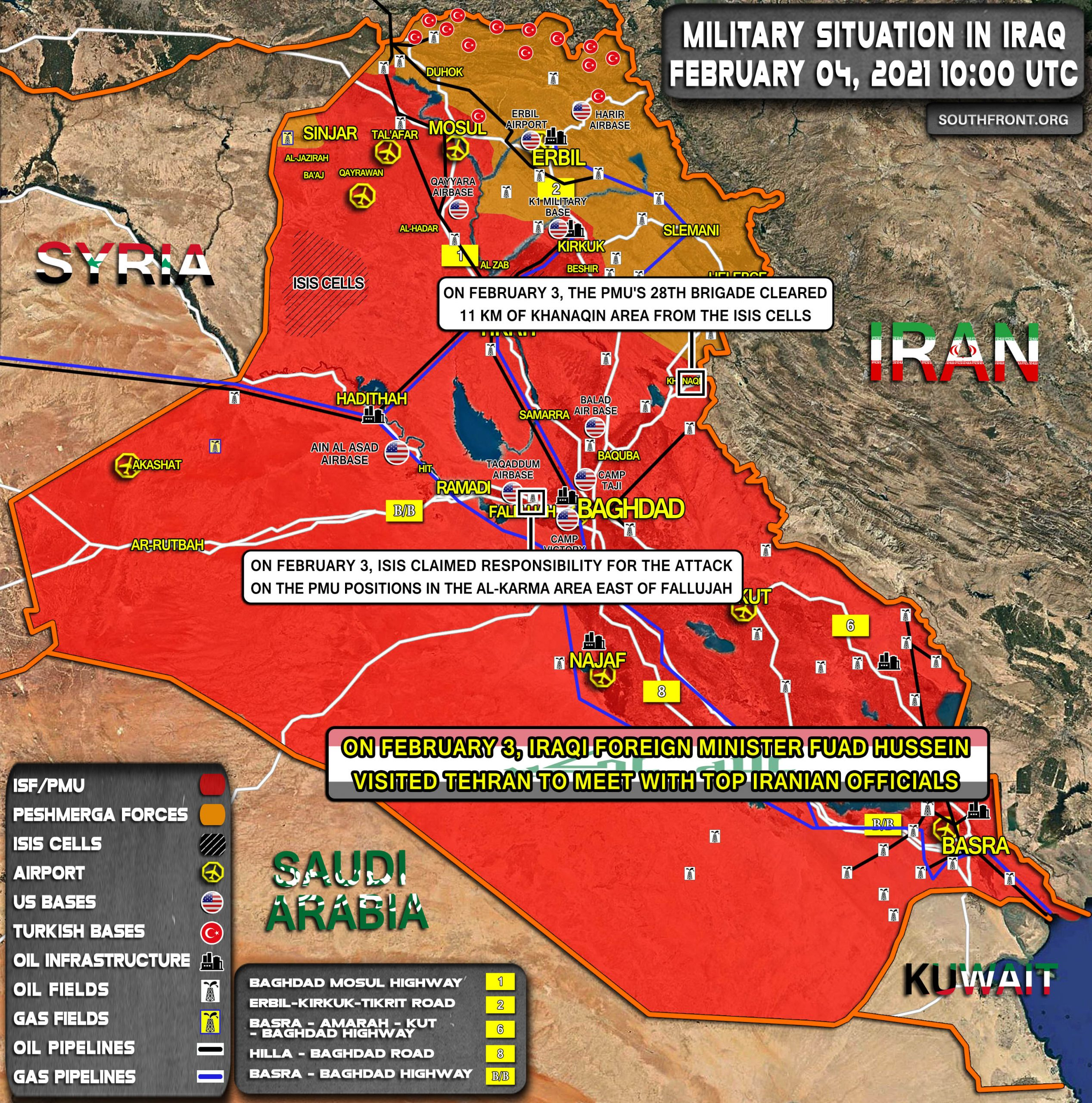 Military Situation In Iraq On February 4, 2021 (Map Update)