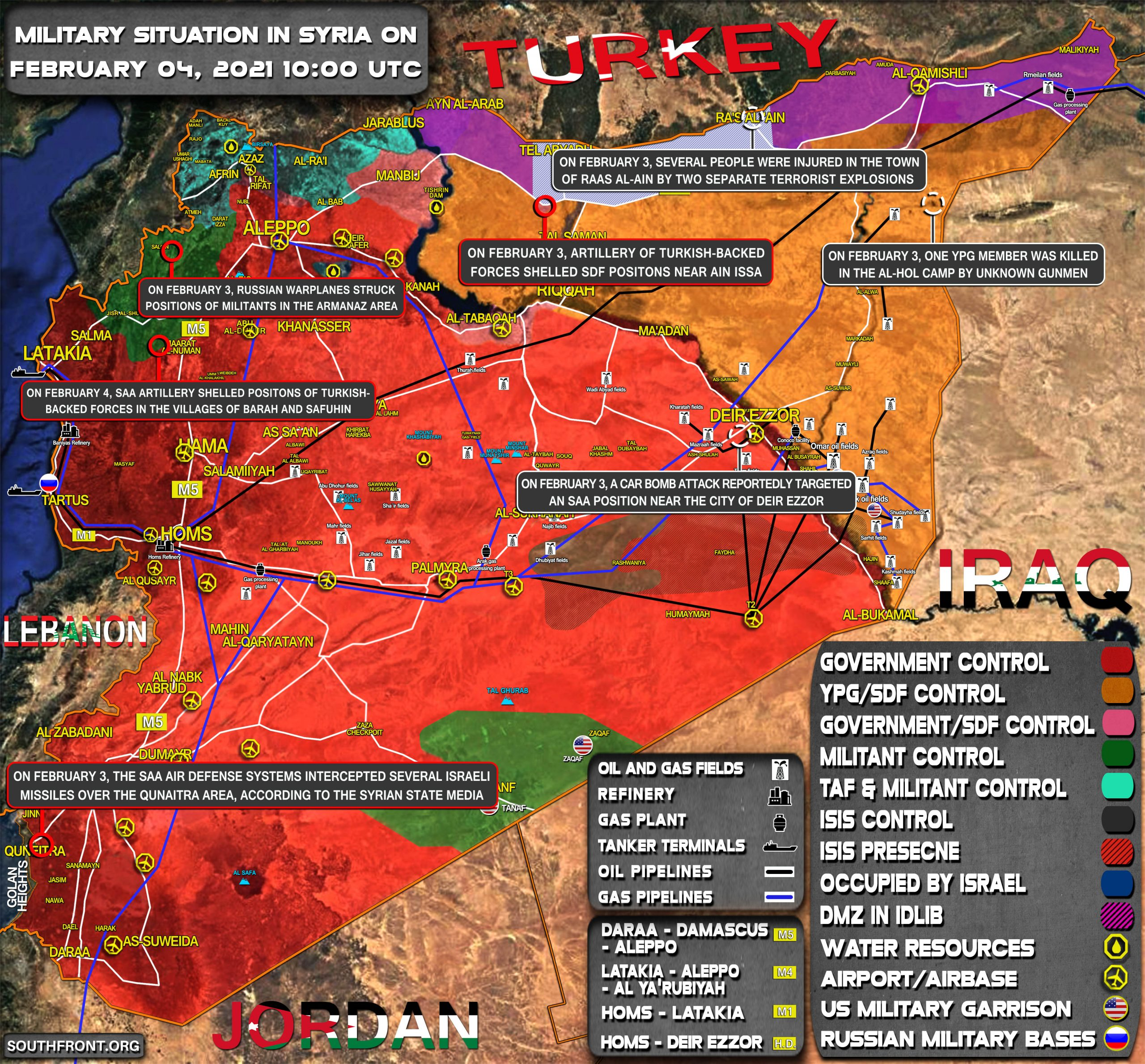 Military Situation In Syria On February 4, 2021 (Map Update)