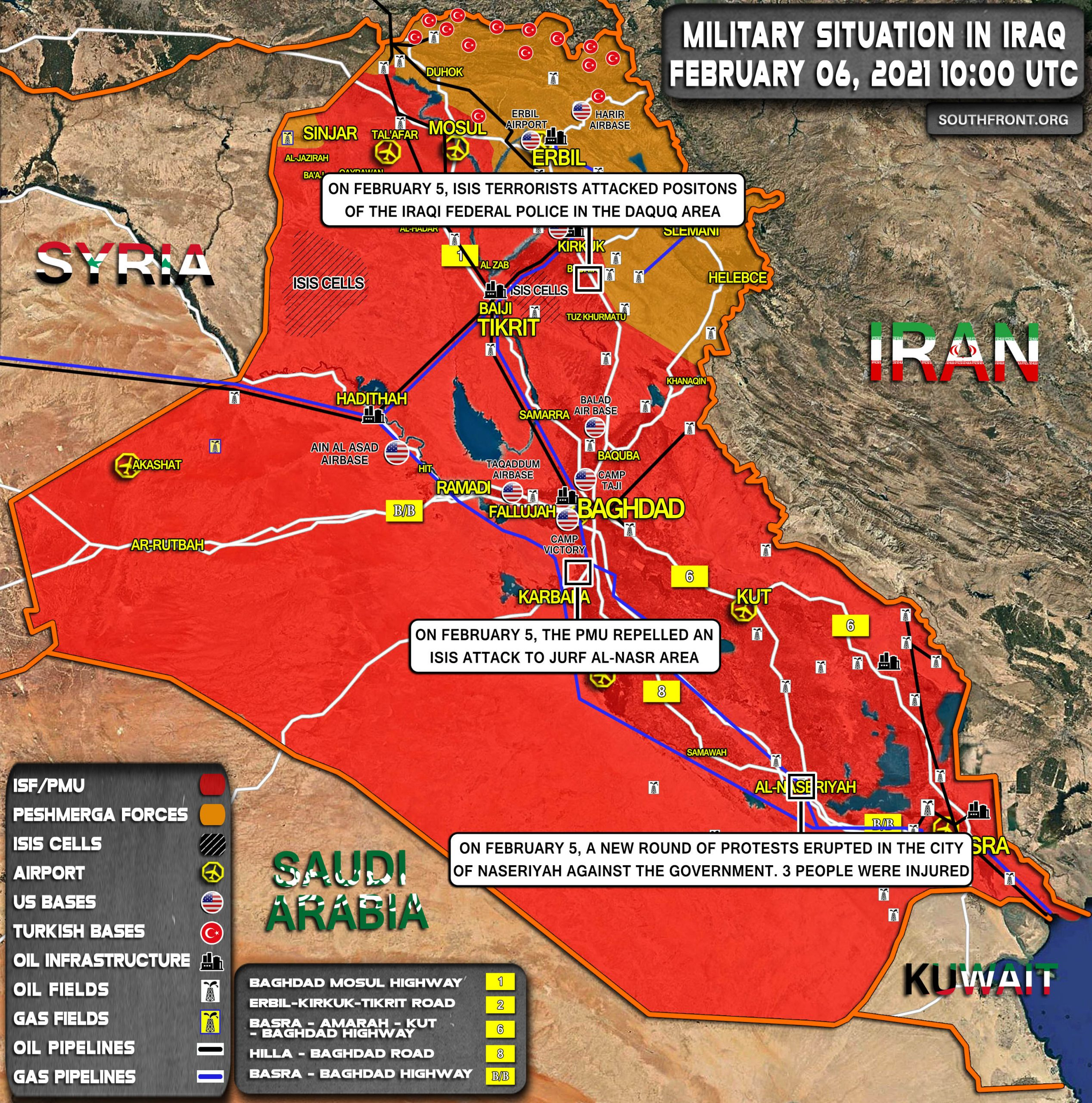 Military Situation In Iraq On February 6, 2021 (Map Update)