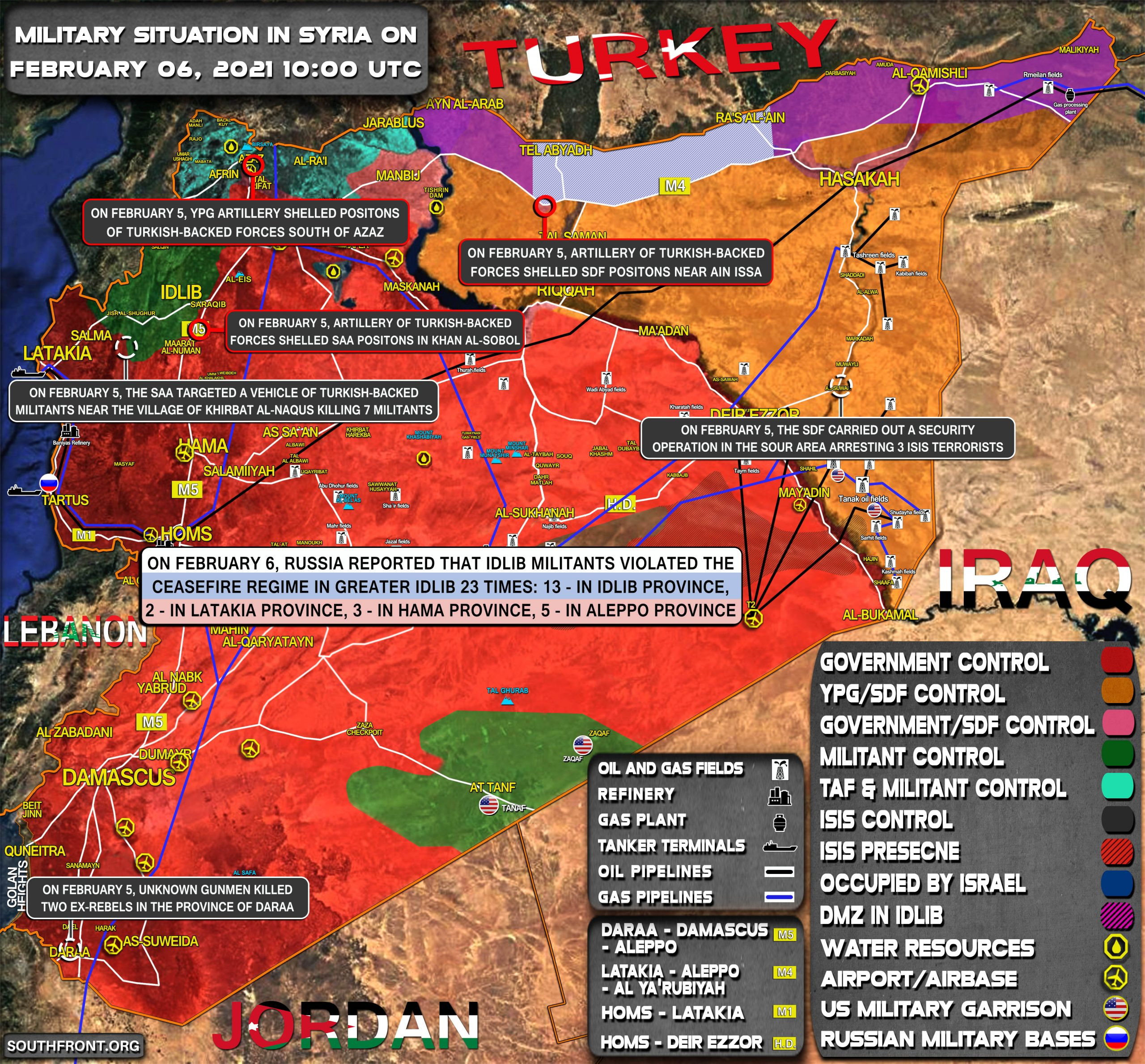 Military Situation In Syria On February 6, 2021 (Map Update)