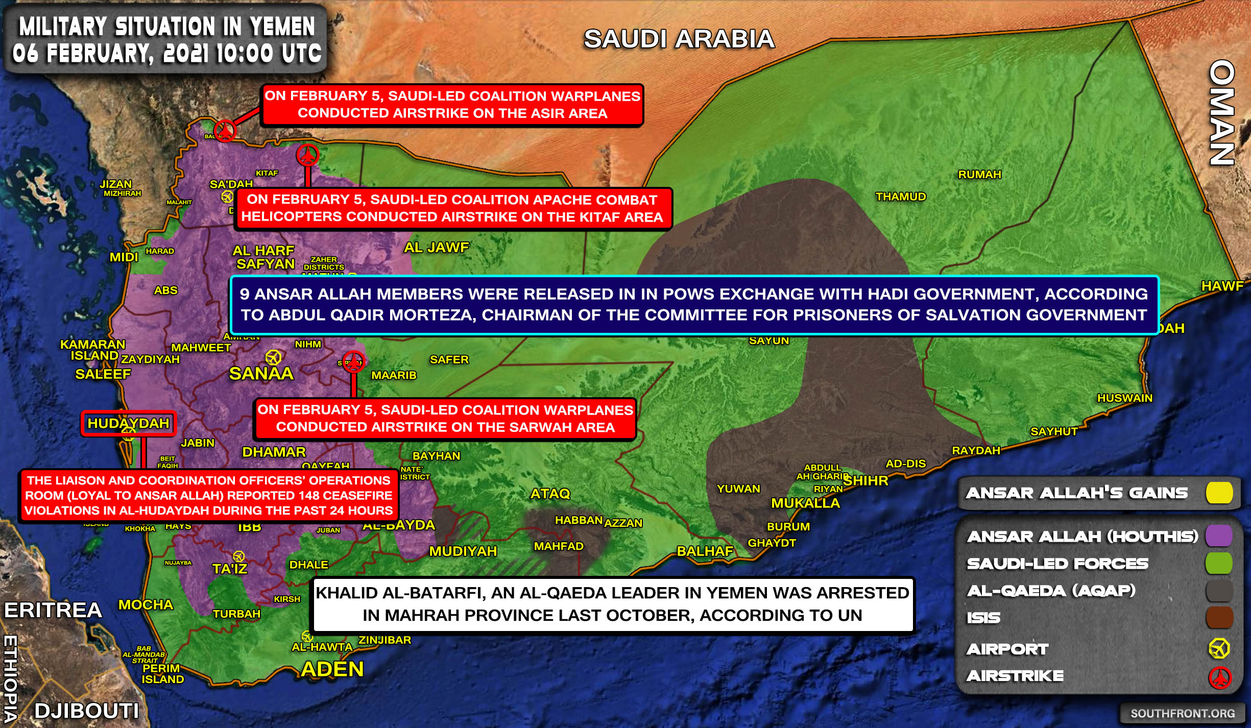 Biden To Remove Ansar Allah Terrorist Designation (Map Update)