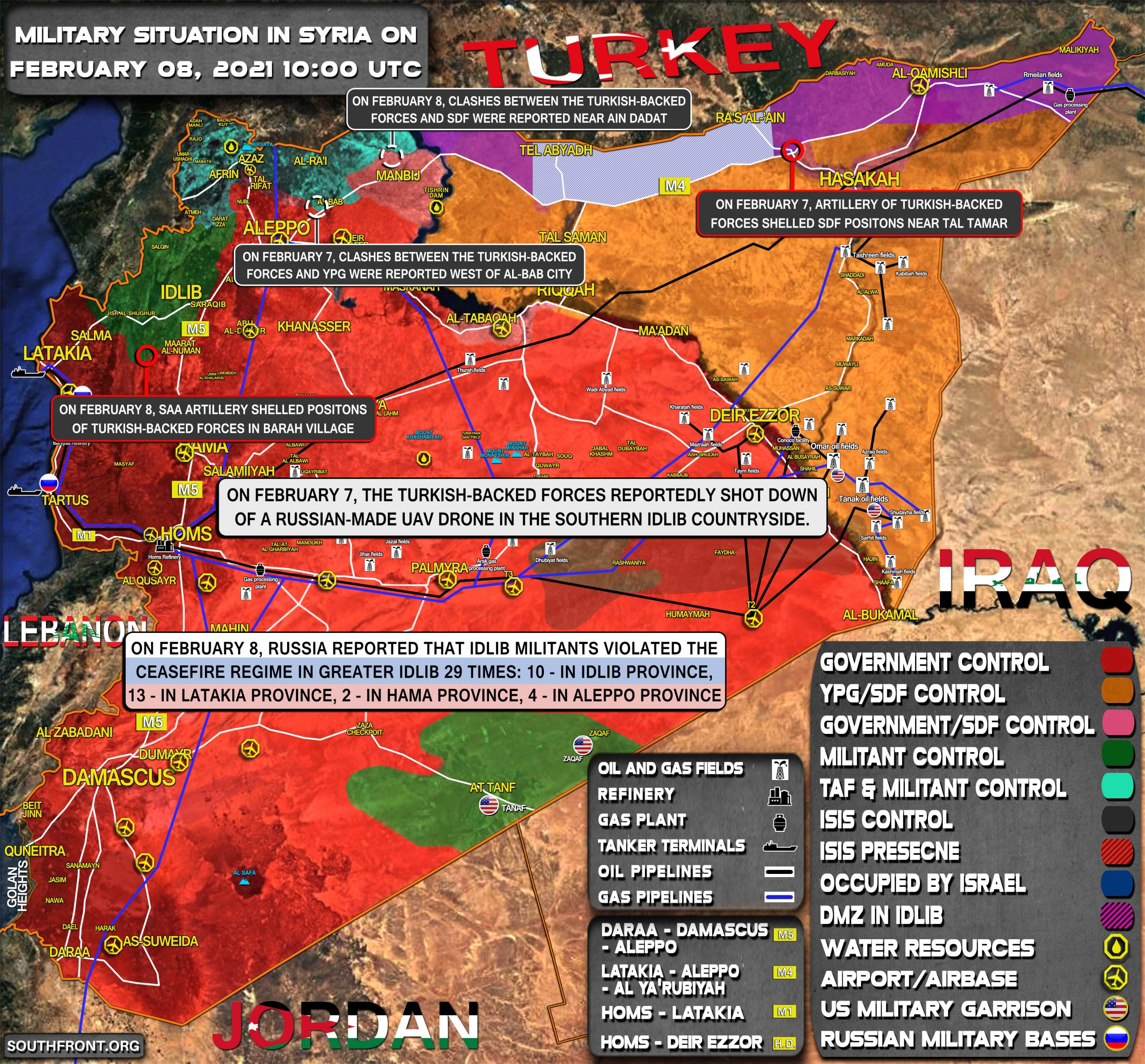 Military Situation In Syria On February 8, 2021 (Map Update)