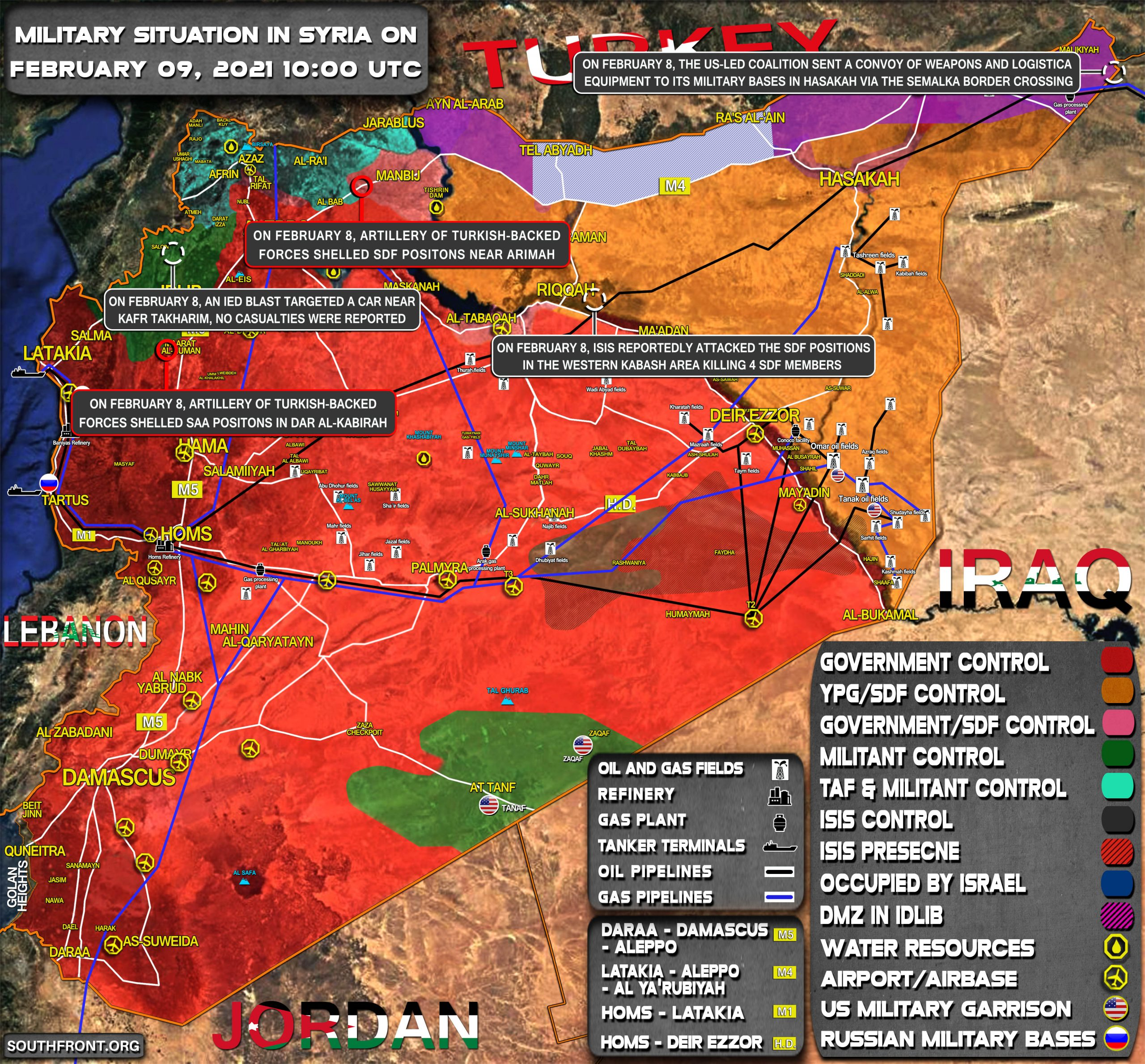 Military Situation In Syria On February 9, 2021 (Map Update)