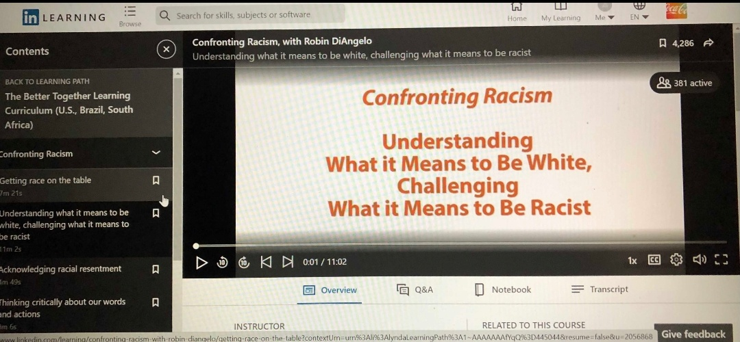 "Coca Cola Training Allegedly Includes Robin DiAngello Lecture Urging Employees To ""Try To Be Less White"""