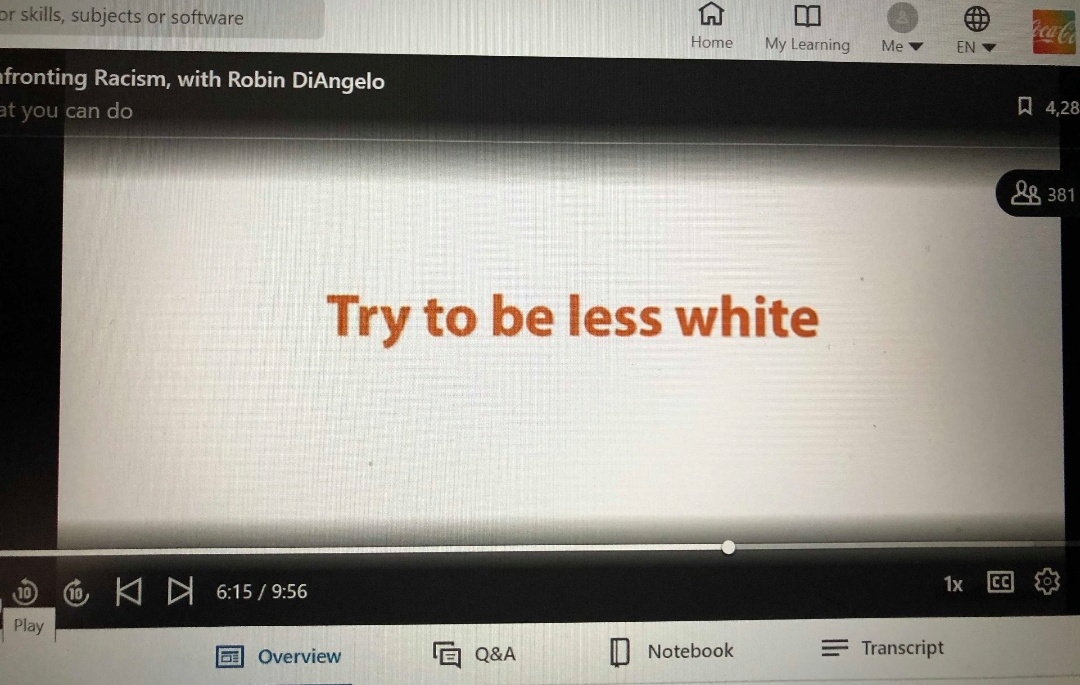 """Coca Cola Training Includes Robin DiAngello Lecture Urging Employees To """"Try To Be Less White"""""""