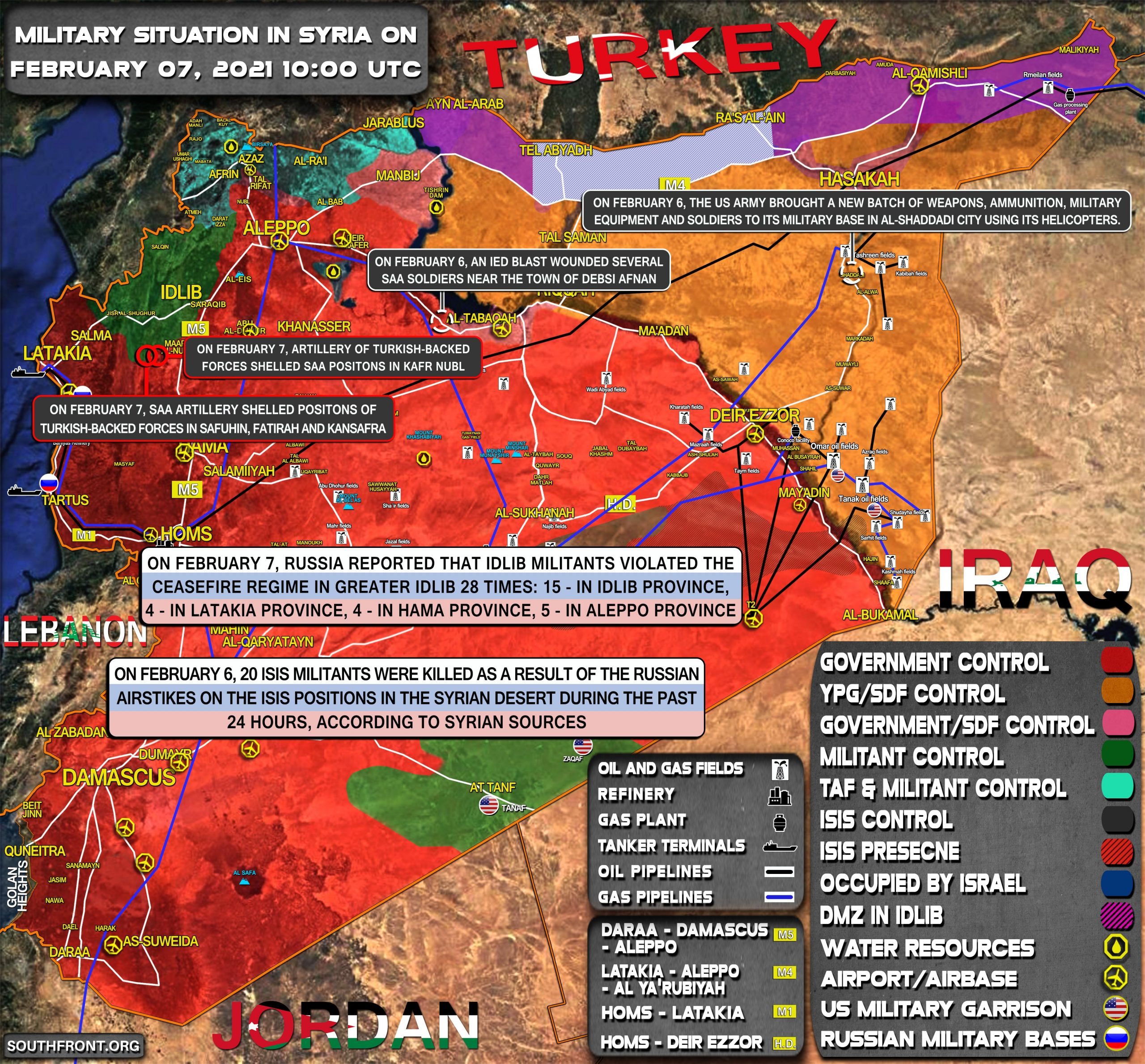 Military Situation In Syria On February 7, 2021 (Map Update)