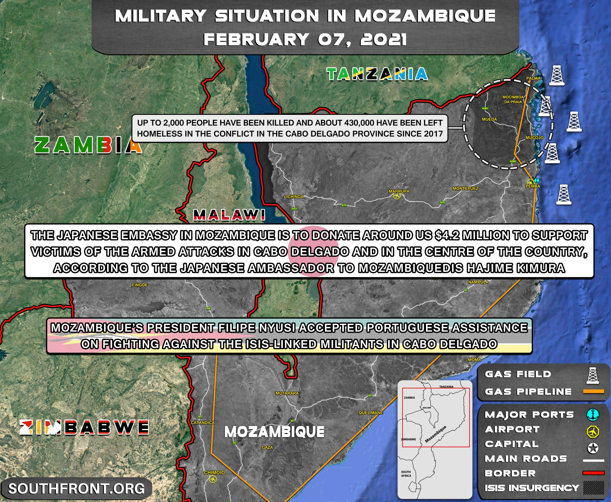 Military Situation In Mozambique On February 7, 2021 (Map Update)