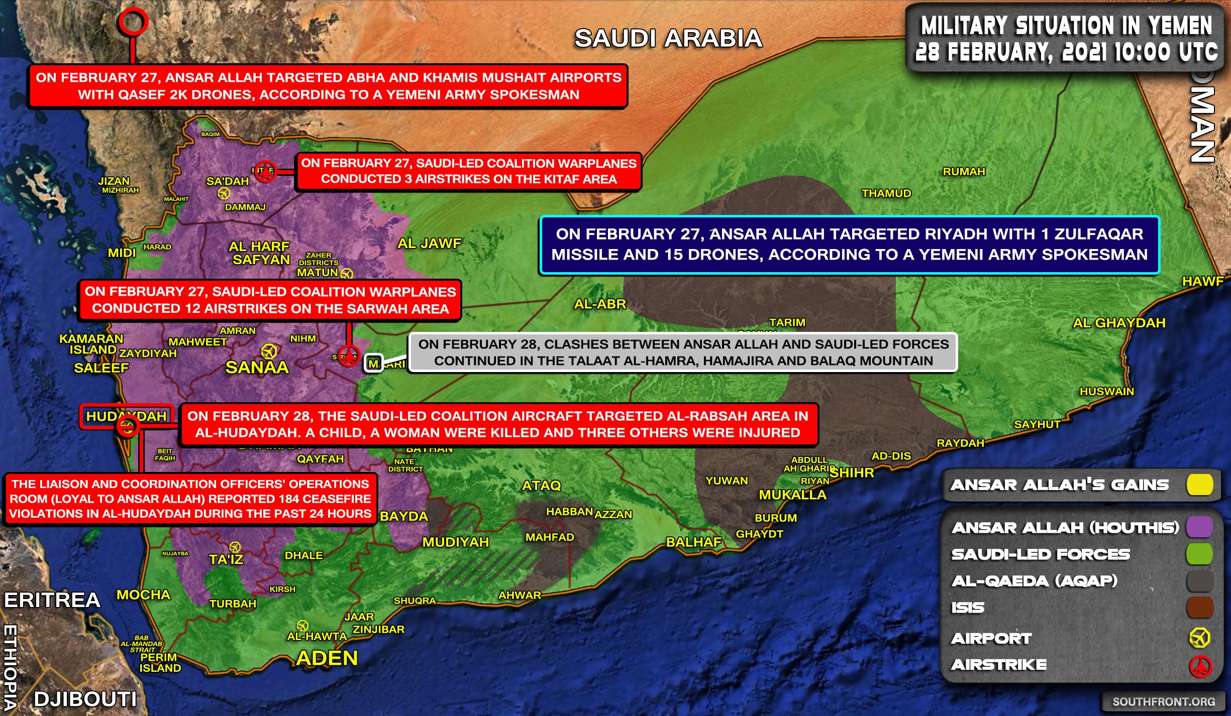 Saudi Arabia Kills Five Civilians, Including Child And Woman In Airstrike On Yemen (Map Update)