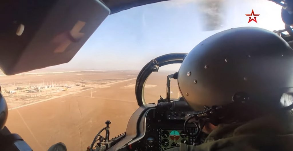 Cockpit Video: Russian Mi-8 And Mi-35 Military Helicopters Patrol M4 Highway In Central Syria