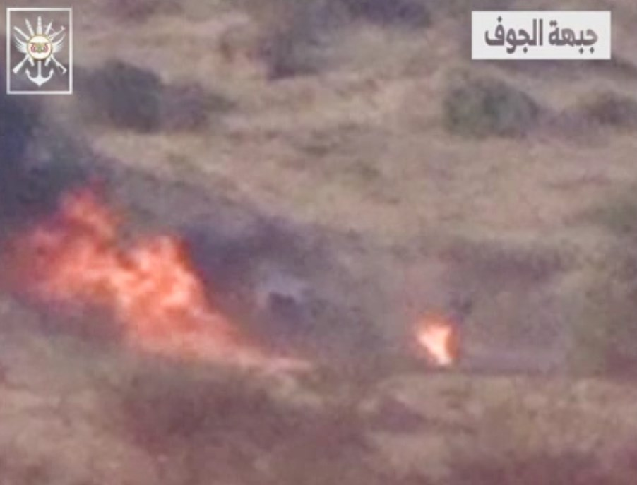 In Video: Houthis Burn Vehicle Of Saudi-Backed Forces With Guided Missile