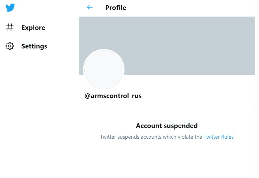 Twitter Blocked Account Of Russia's Delegation To Vienna Arms Control & Security Talks
