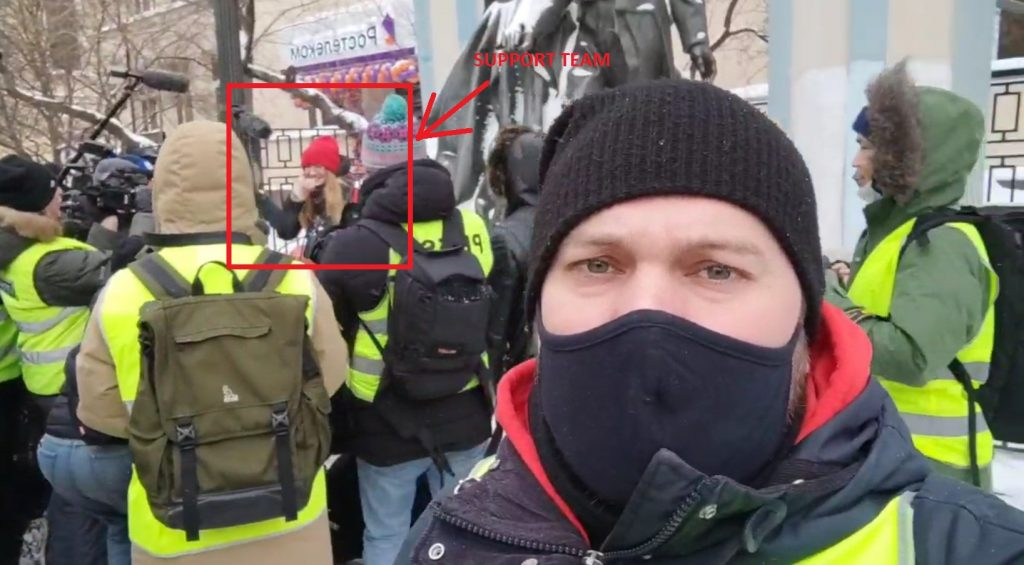 Fake Leader Of Fake Opposition: One (!) Person Came In Time To Participate In Protest In Support Of Yulia Navalny In Moscow