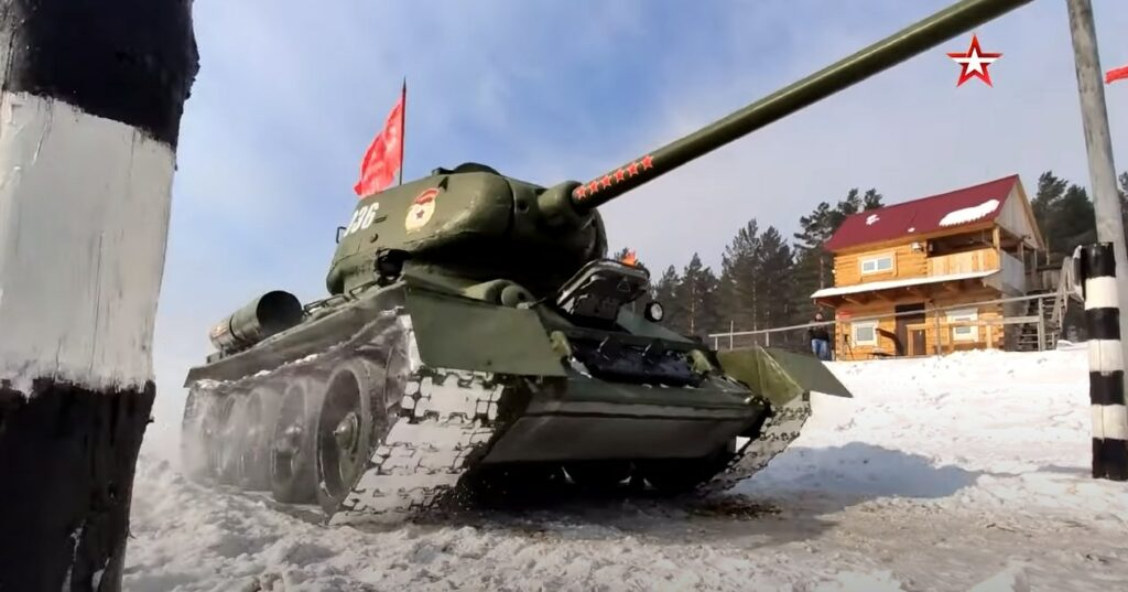 Russian Crew Takes Iconic T-34 Battle Tank For Ride