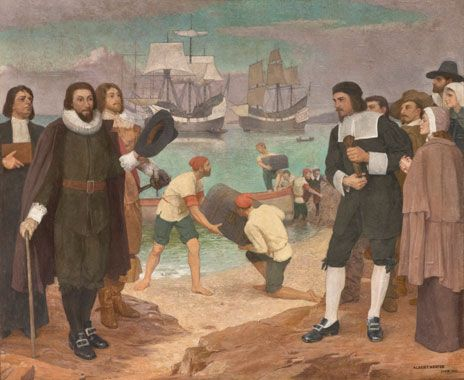 John Winthrop and Puritans leave for America Winthrop