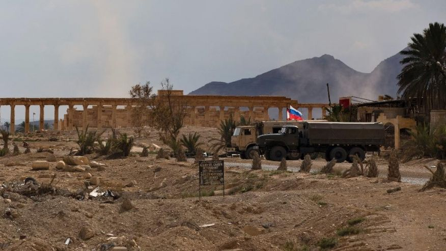 Russia Equipping Military Base In The White Desert Surrounding Palmyra: Reports