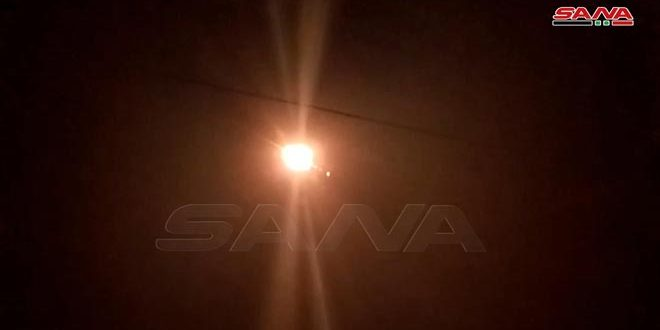 Syrian Air Defense Forces Shot Down Israeli Missiles Launched From Golan Heights Direction