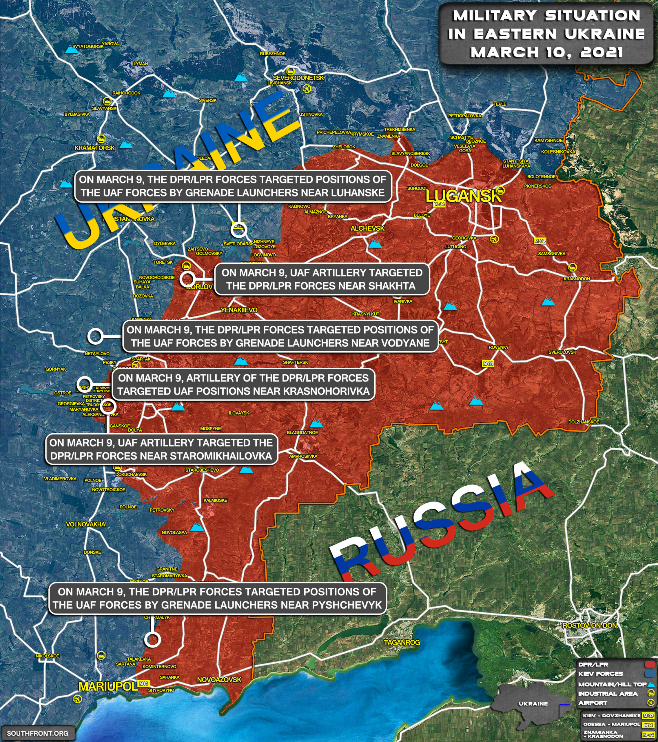 Military Situation In Eastern Ukraine On March 10, 2021 (Map Update)