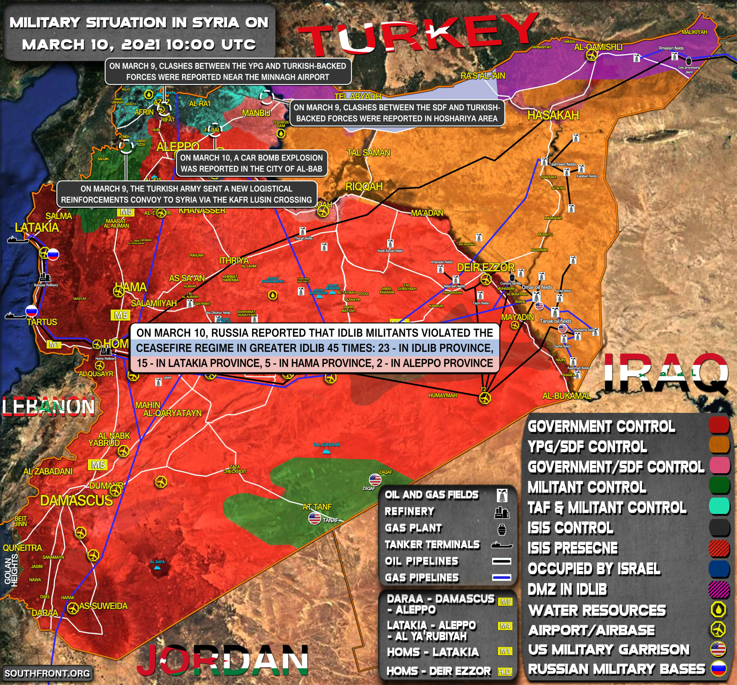 Military Situation In Syria On March 10, 2021 (Map Update)