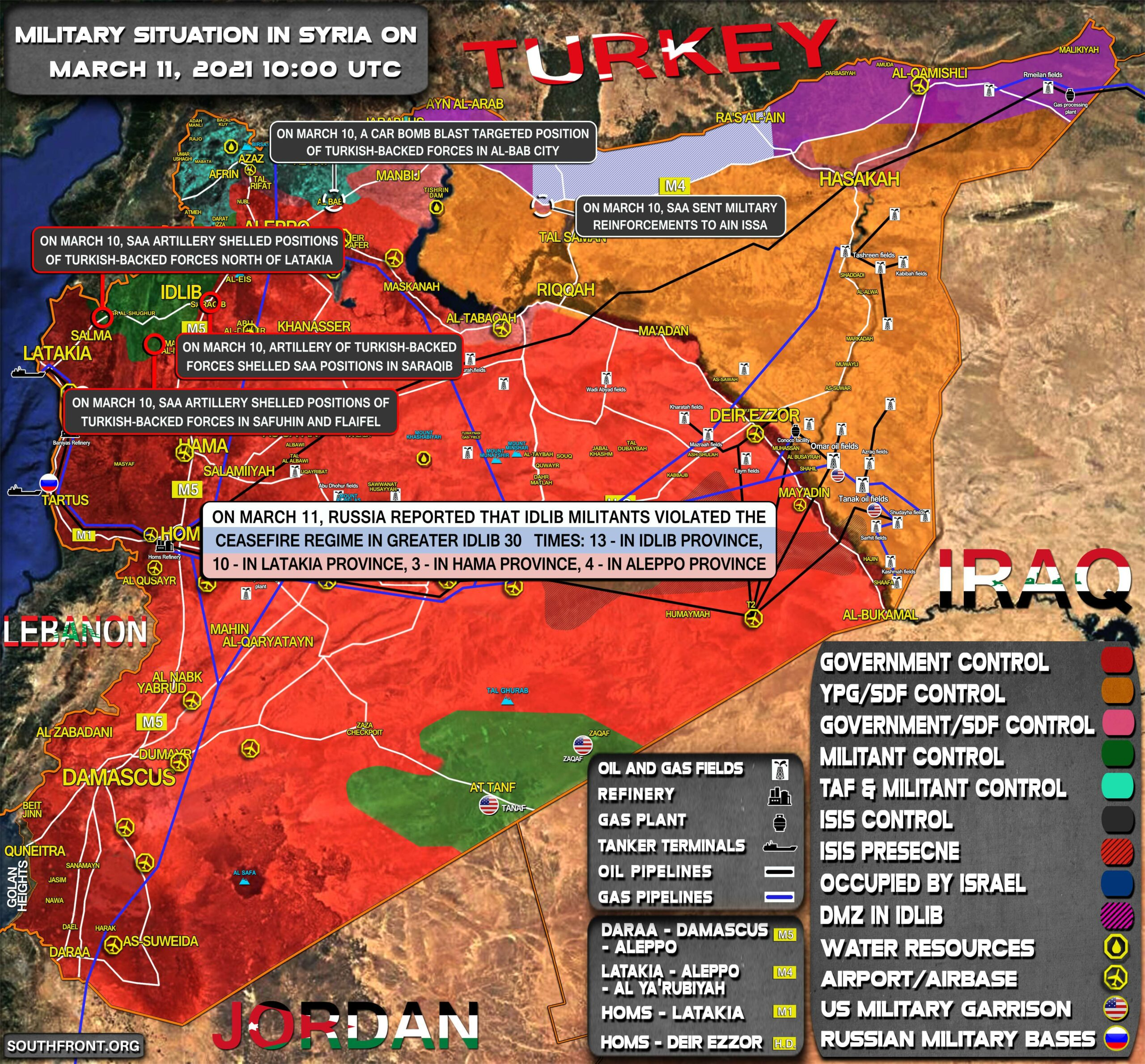 Military Situation In Syria On March 11, 2021 (Map Update)