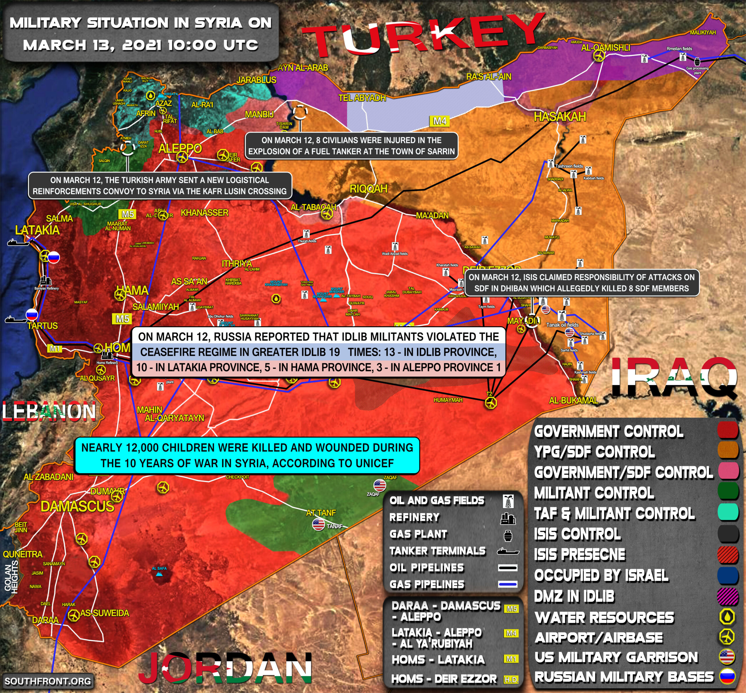 Military Situation In Syria On March 13, 2021 (Map Update)