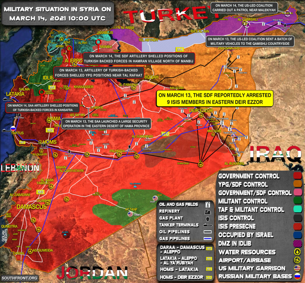Military Situation In Syria On March 14, 2021 (Map Update)