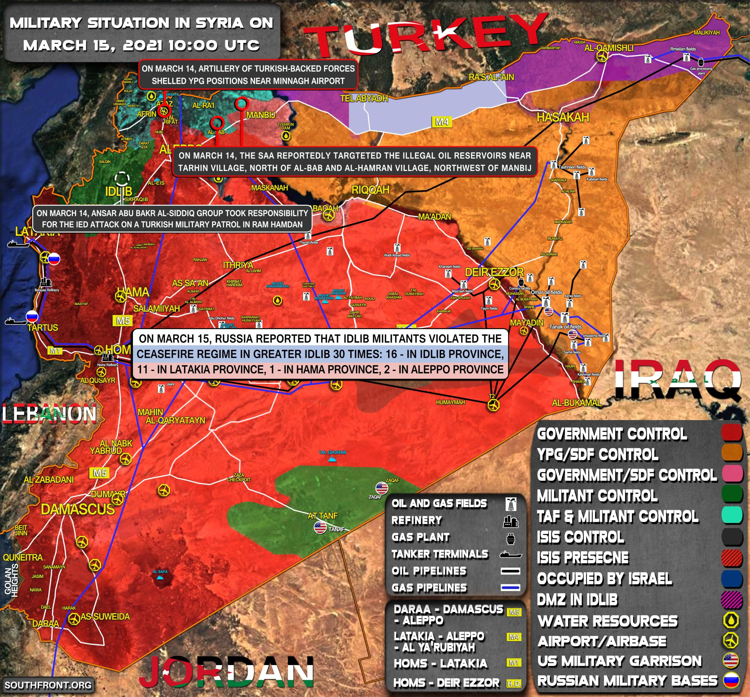 Military Situation In Syria On March 15, 2021 (Map Update)