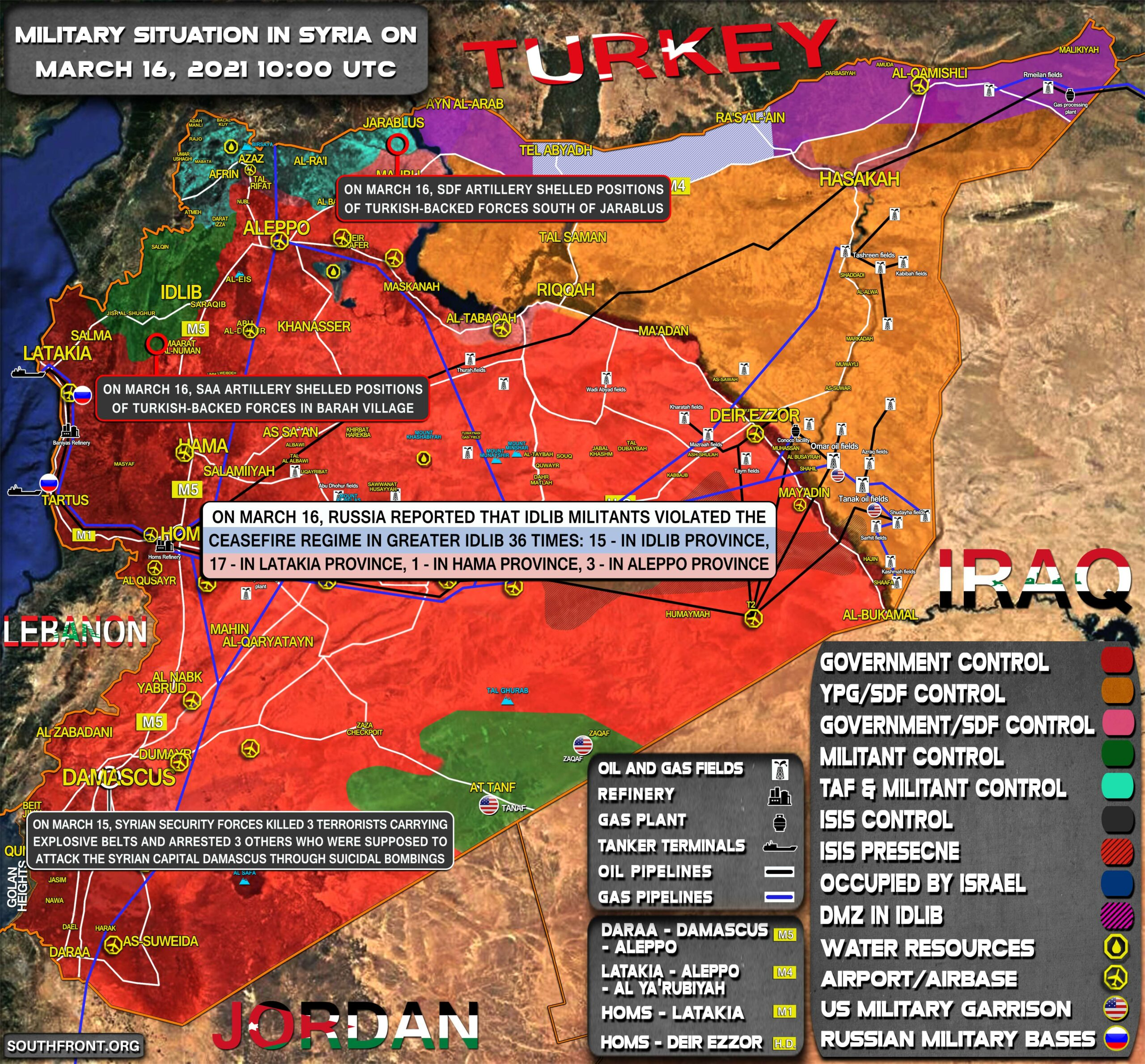 Military Situation In Syria On March 16, 2021 (Map Update)