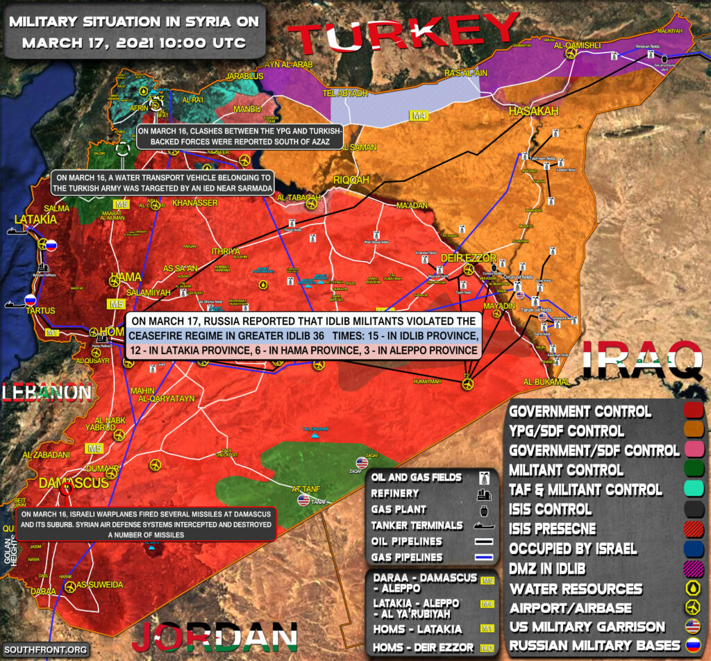 Military Situation In Syria On March 17, 2021 (Map Update)