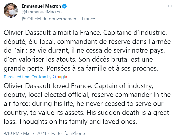 Who Benefits From Death Of Dassault?