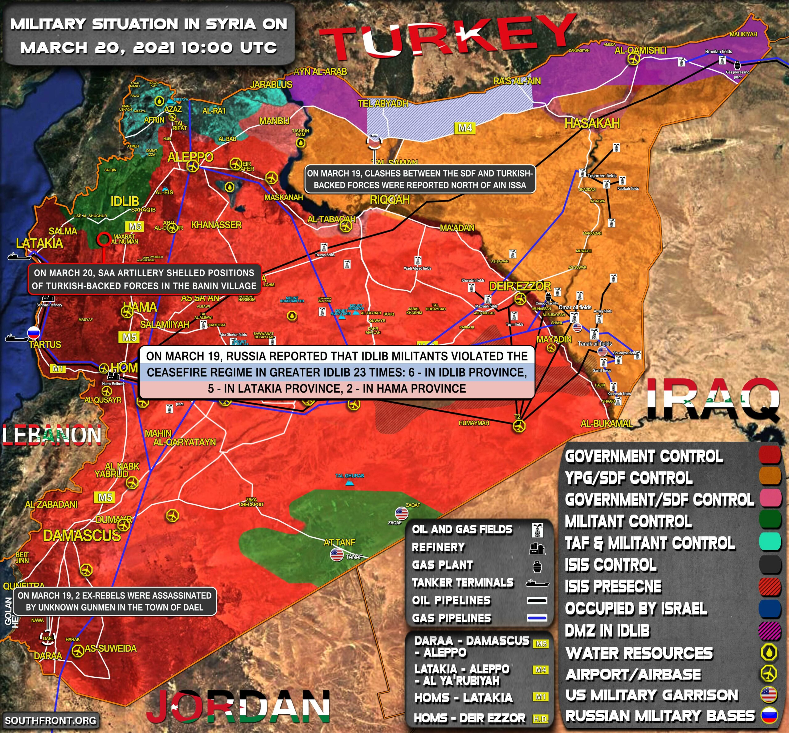 Military Situation In Syria On March 20, 2021 (Map Update)