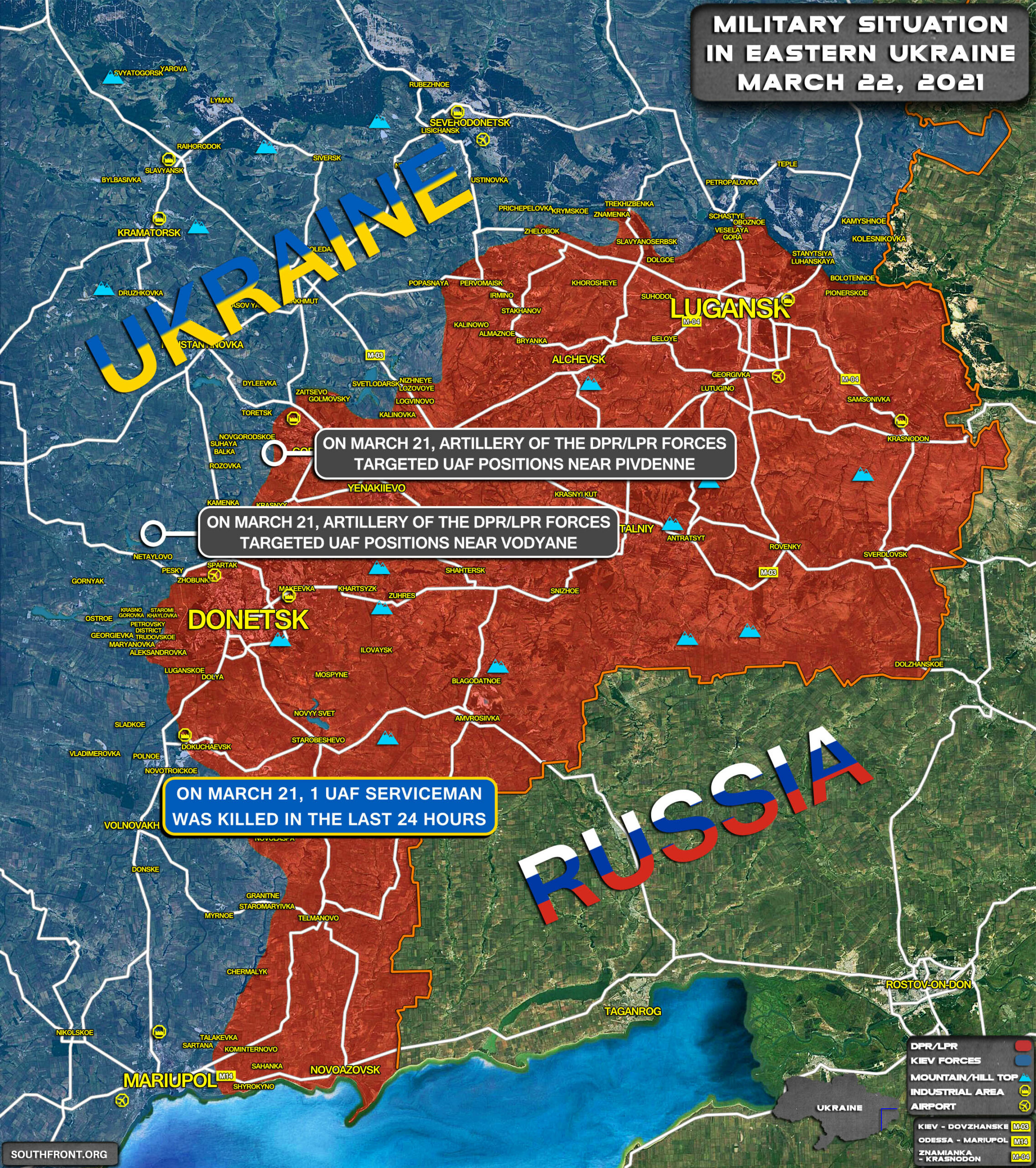 Military Situation In Eastern Ukraine On March 22, 2021 (Map Update)