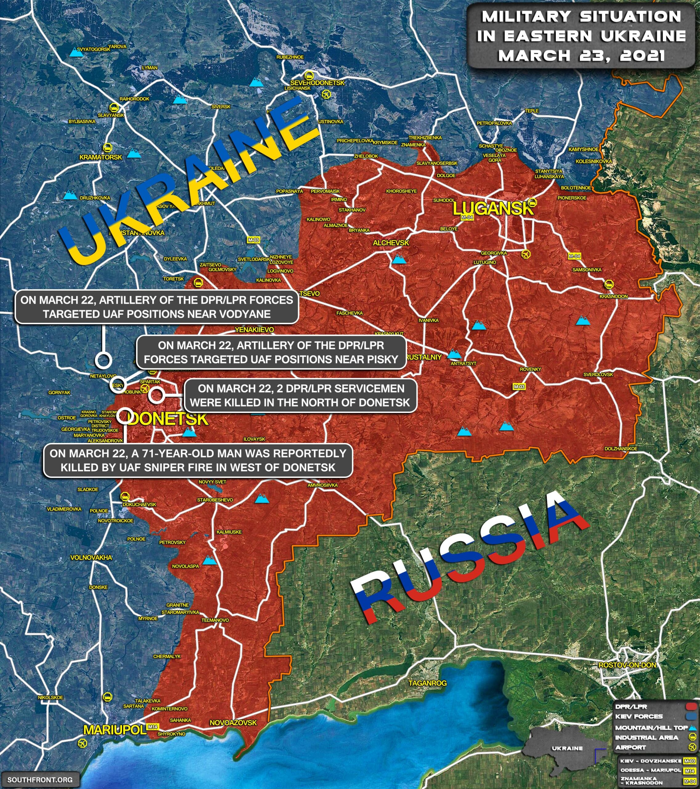Military Situation In Eastern Ukraine On March 23, 2021 (Map Update)